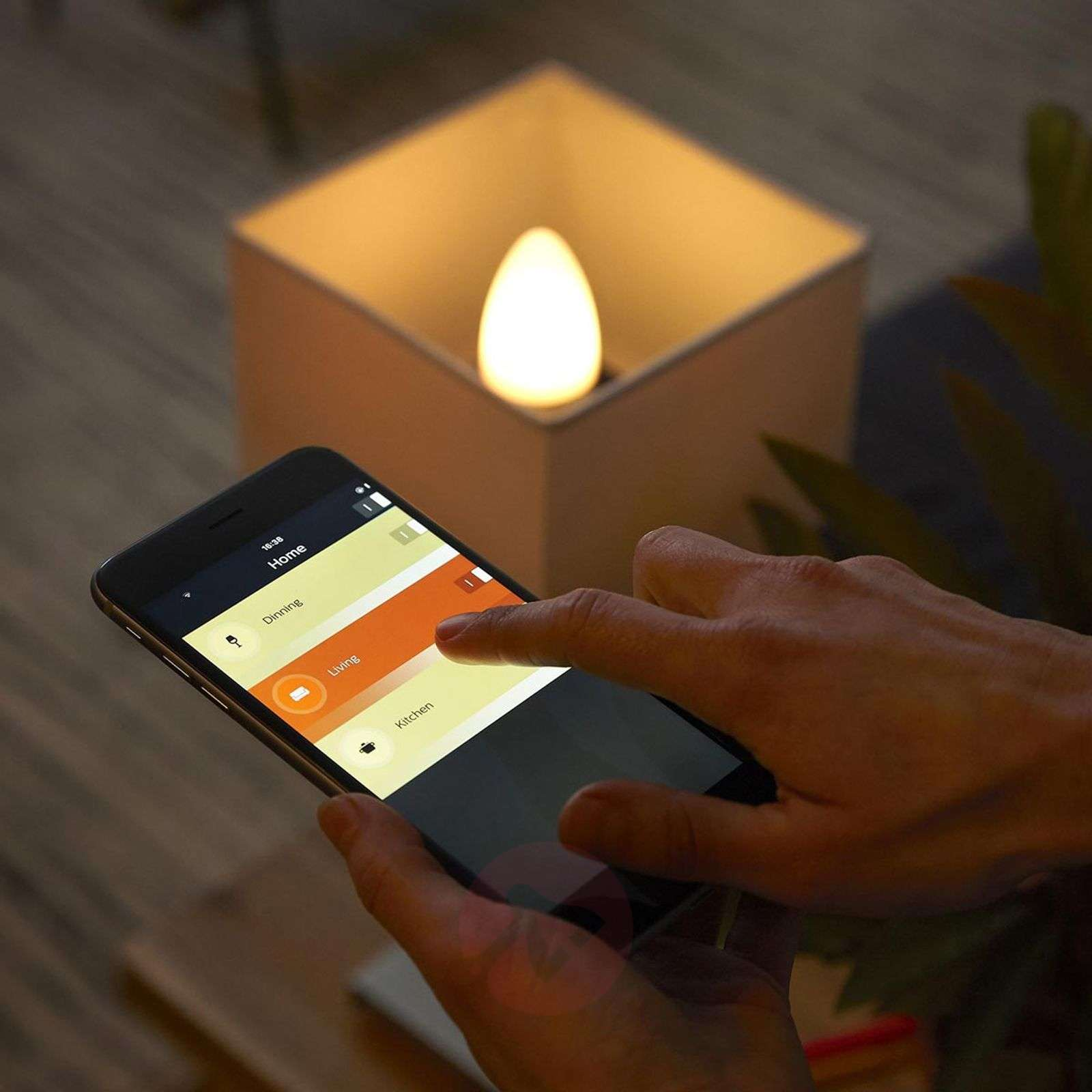 2 ampoules flamme Philips HUE White Ambiance E14-7532034-01