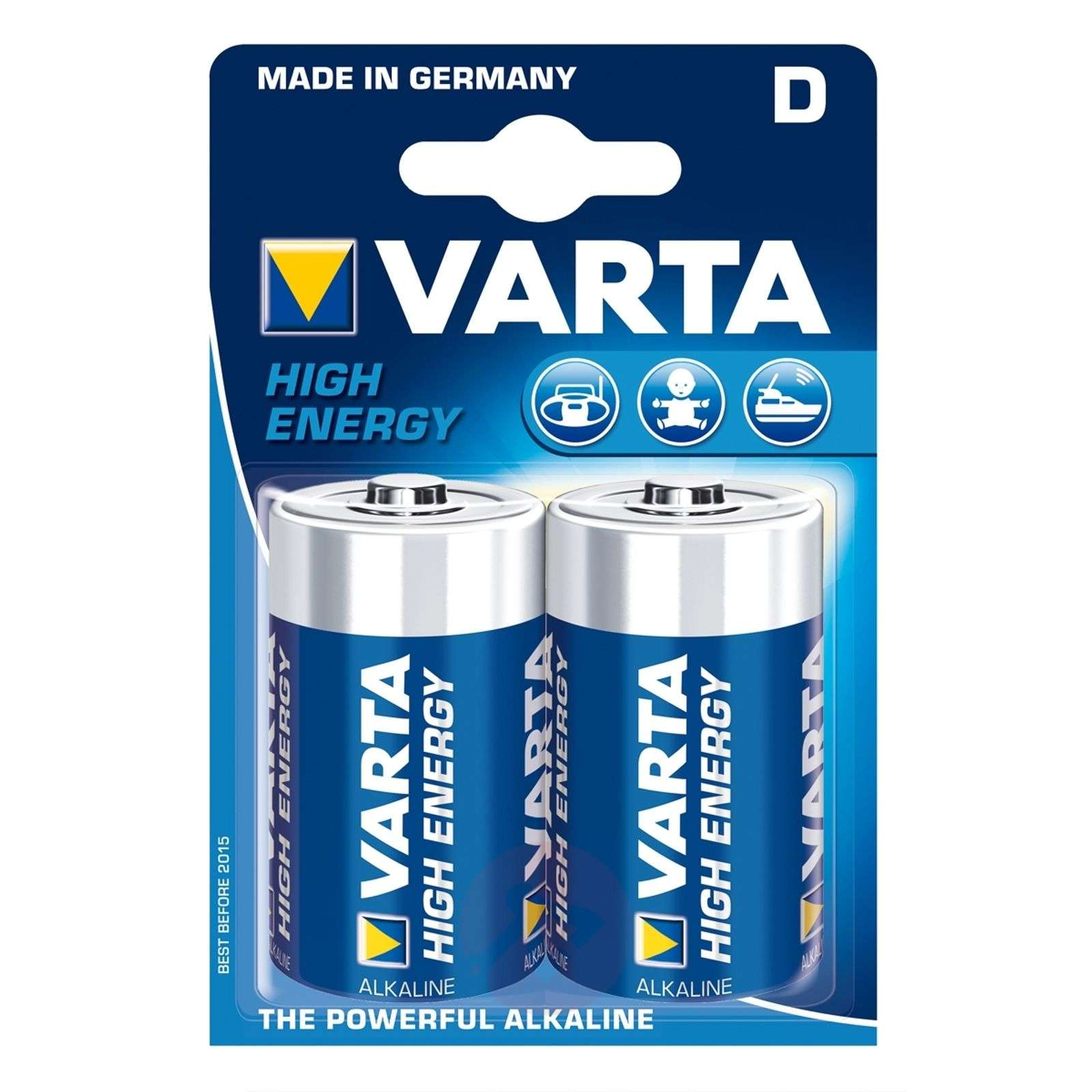 2 piles VARTA High Energy Mono (D) 4920