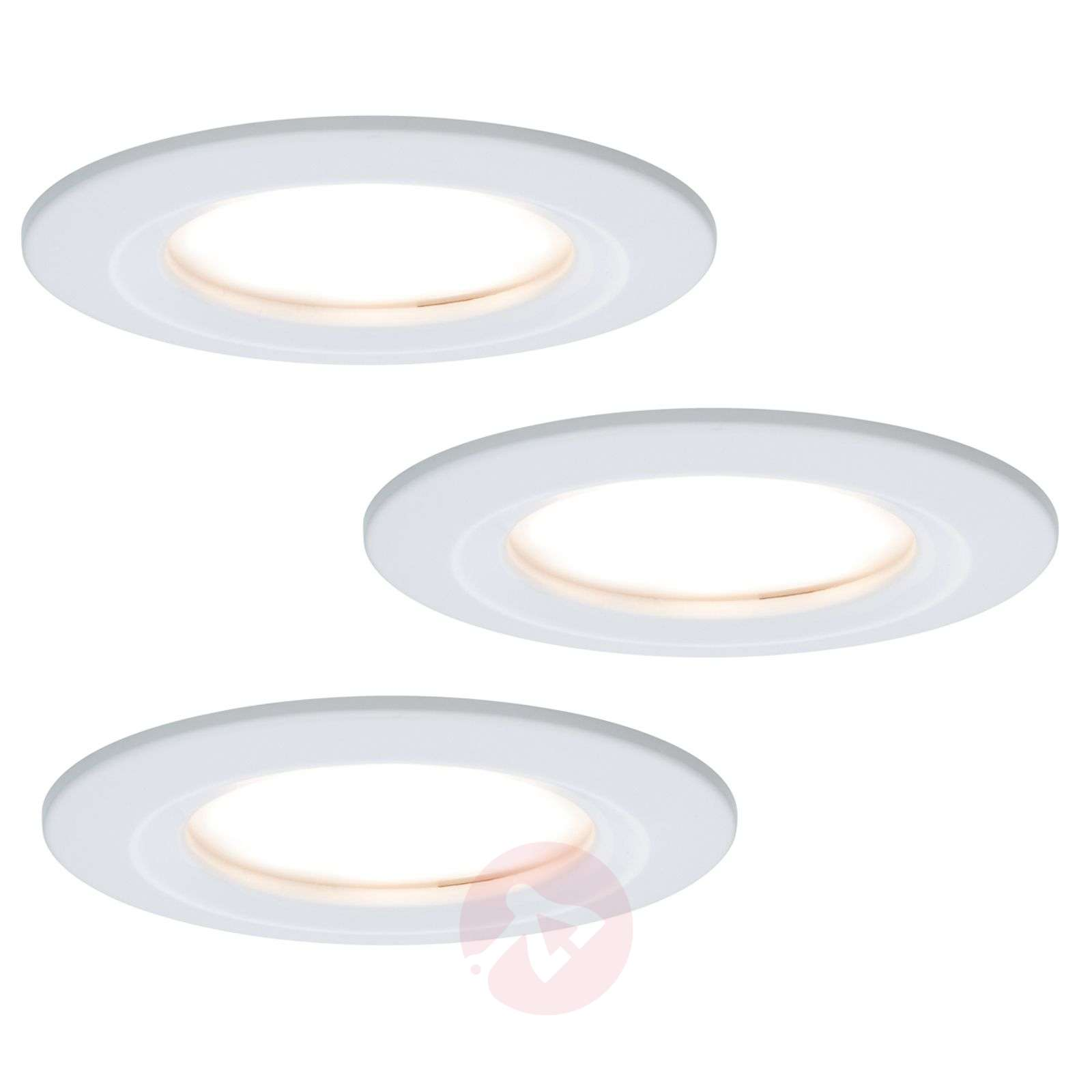 3 spots encastrables LED Coin Slim, IP44-7600812-01