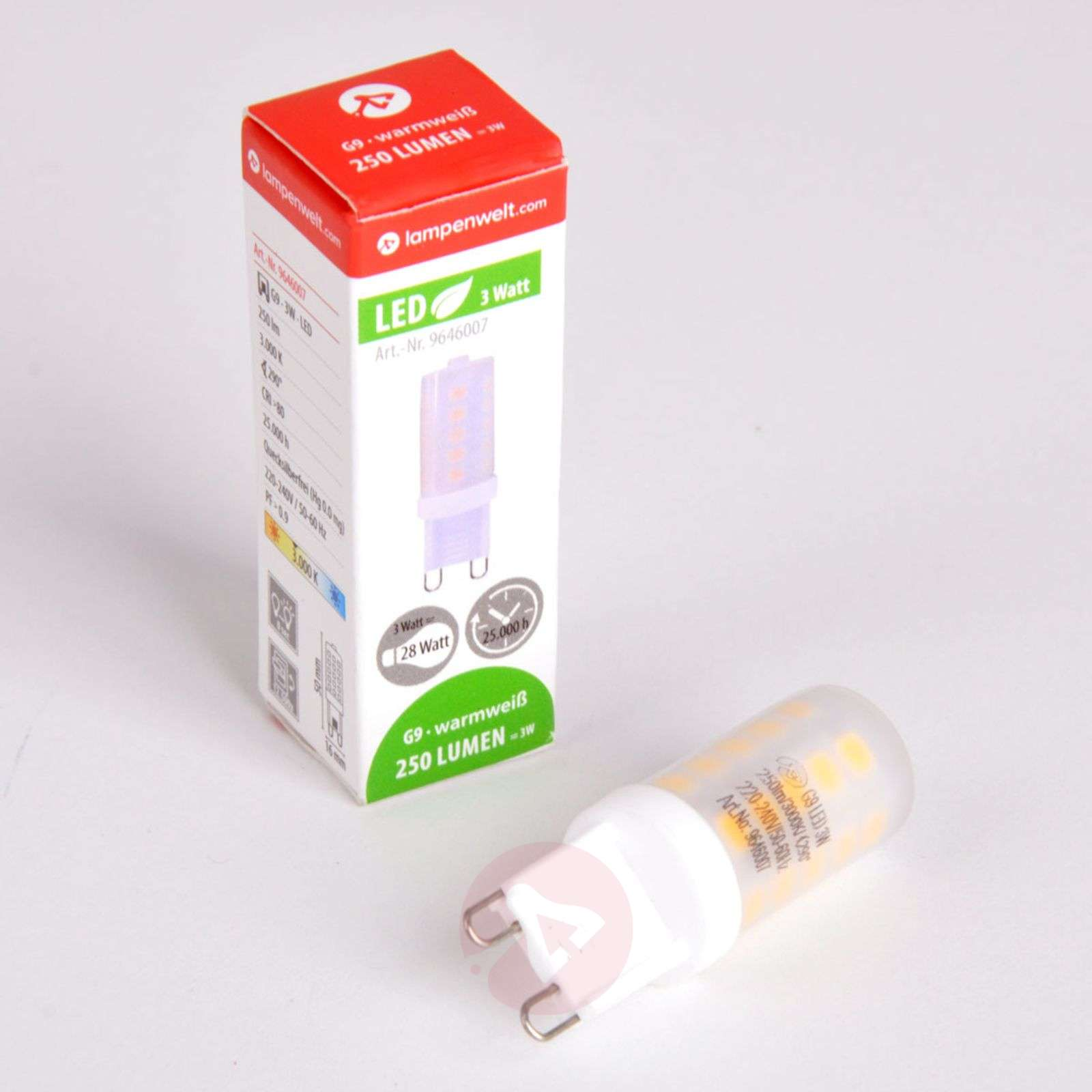 Ampoule à broches LED G9 de 3 W 830-9646007-06