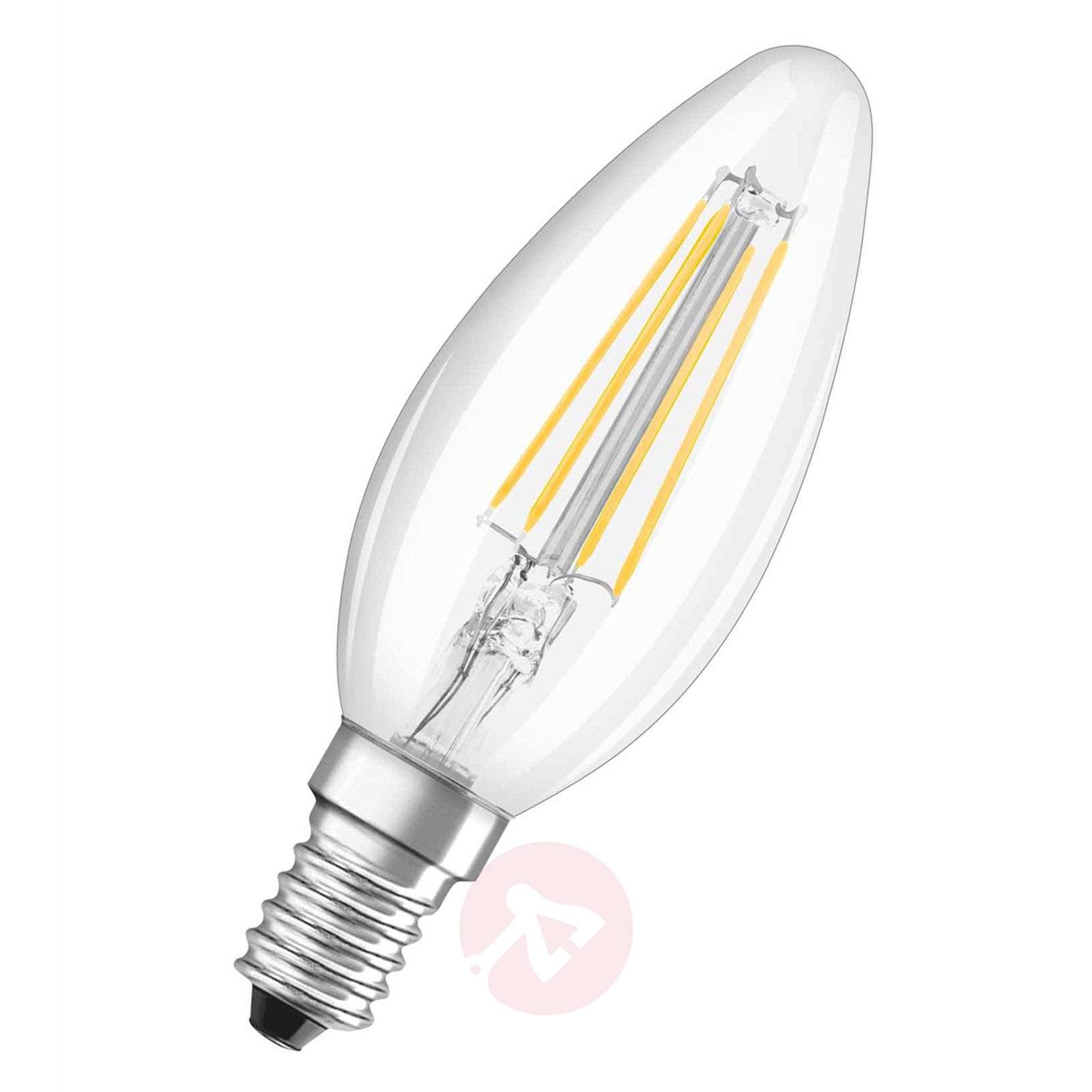 Ampoule flam. à filament LED E14 4 W 827, kit de 2