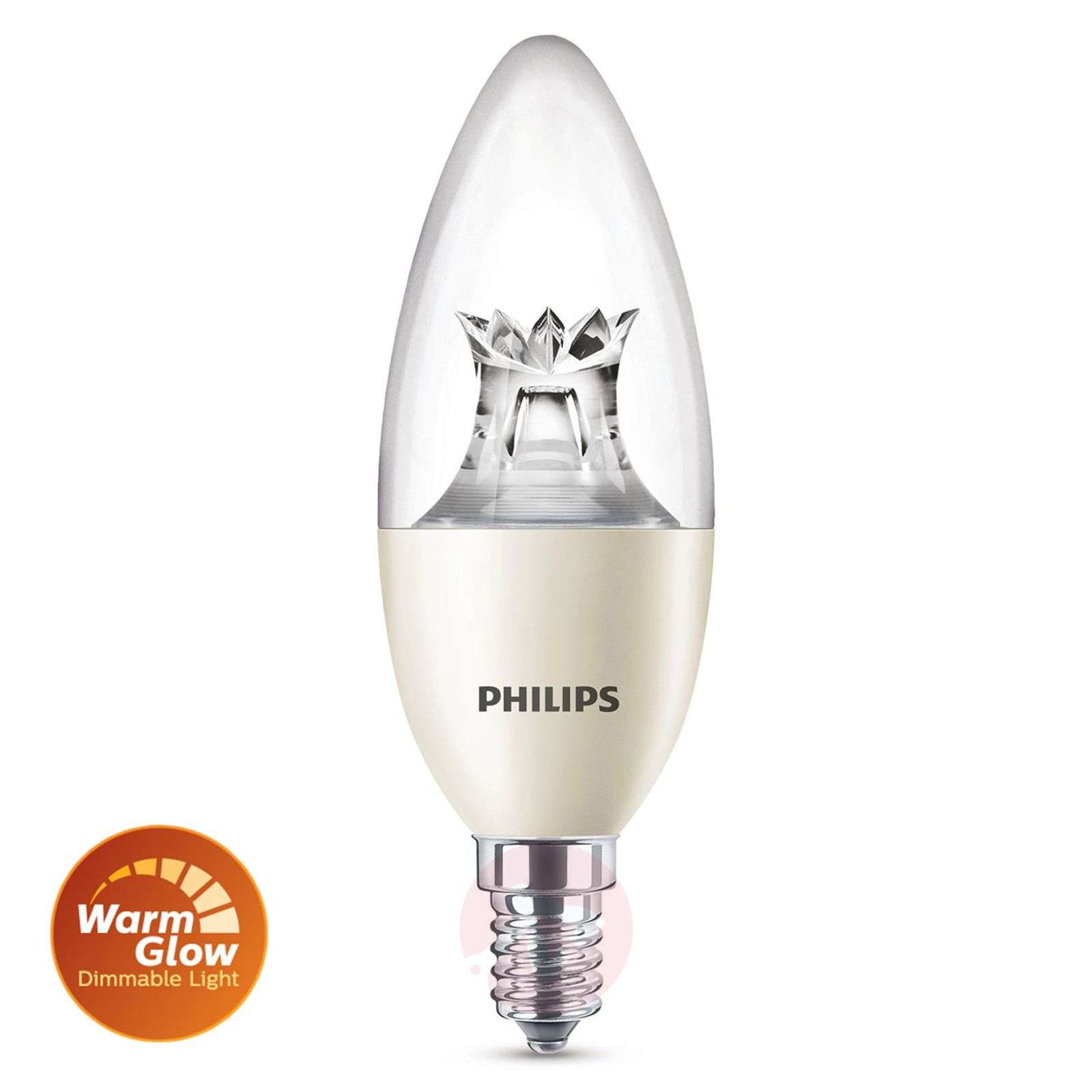 Ampoule flamme LED E14 8W 822-827 warmglow-7530709-02