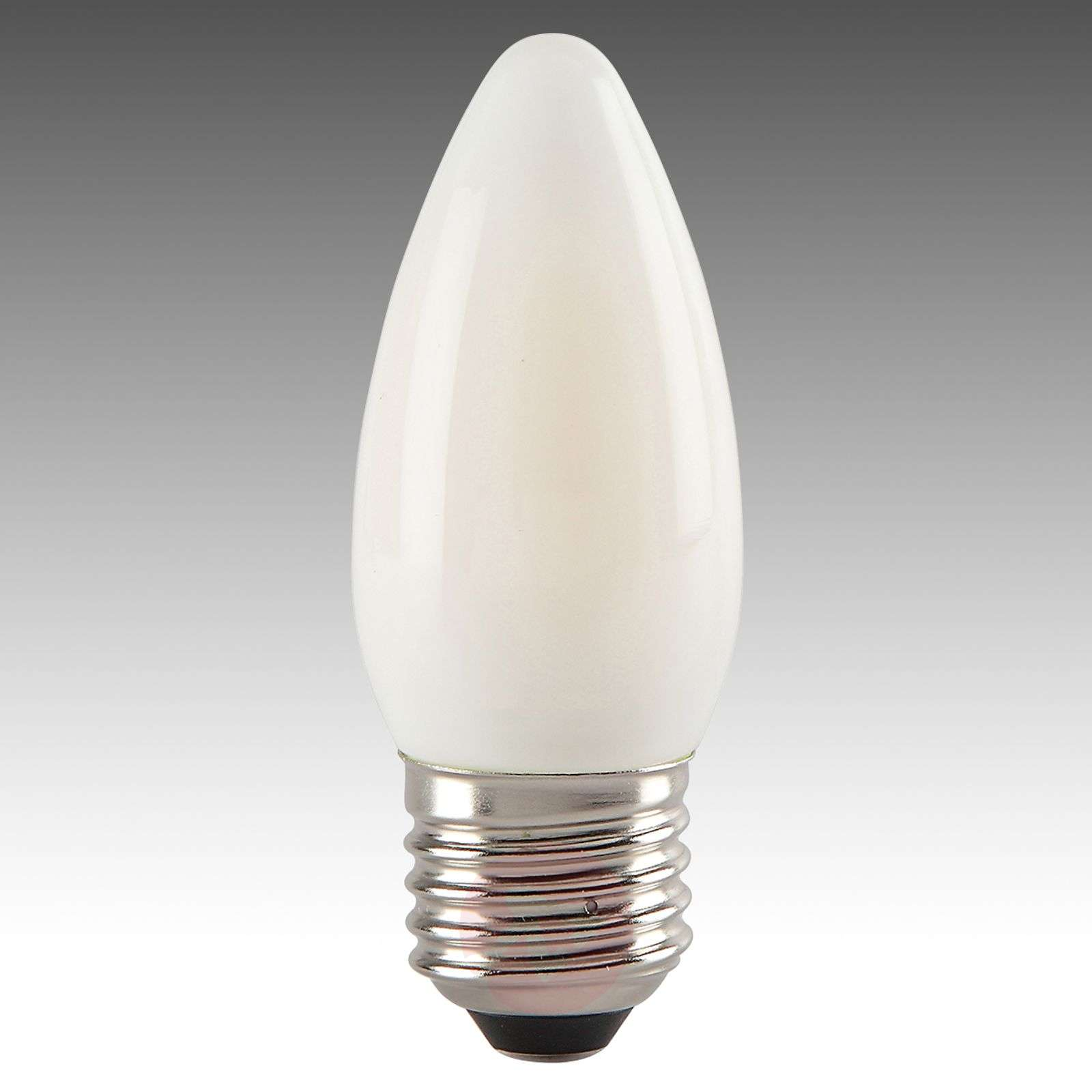 Ampoule flamme LED E27 4 W 827, satinée