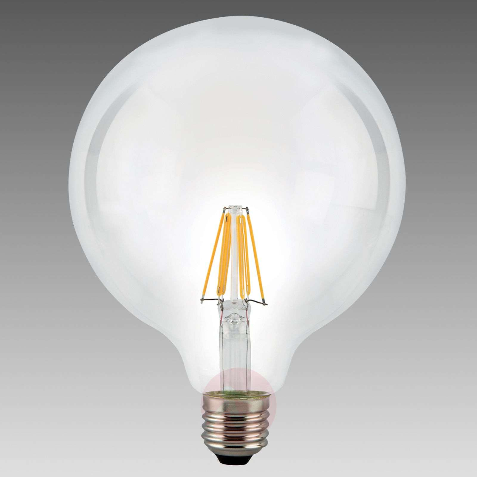 Ampoule globe LED E27 7,5 W 827, transparent-8530238-01