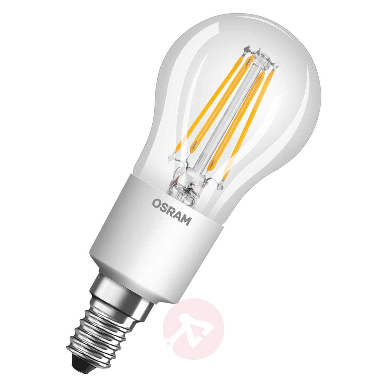 Ampoule goutte à filament LED E14 5 W, variable-7260987-01