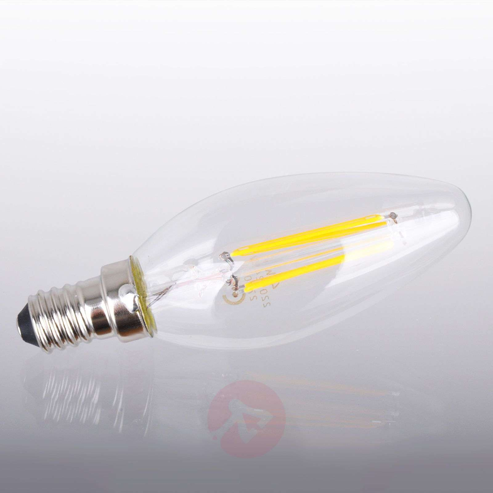 Ampoule LED bougie E14 4W 827, transparent-9945103-01