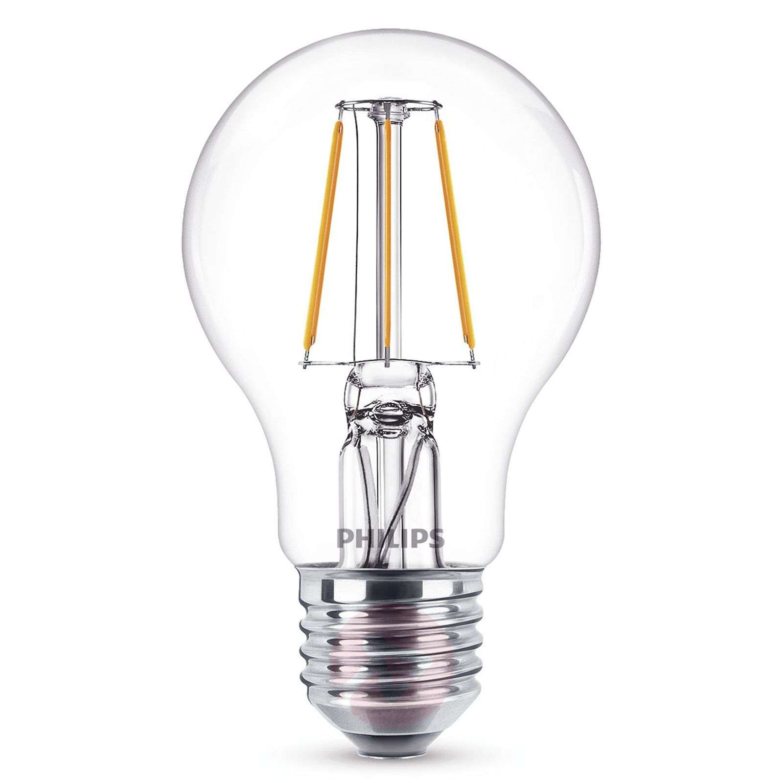 Ampoule LED filament E27 A60 4W 2 700K transparent-7530787-01
