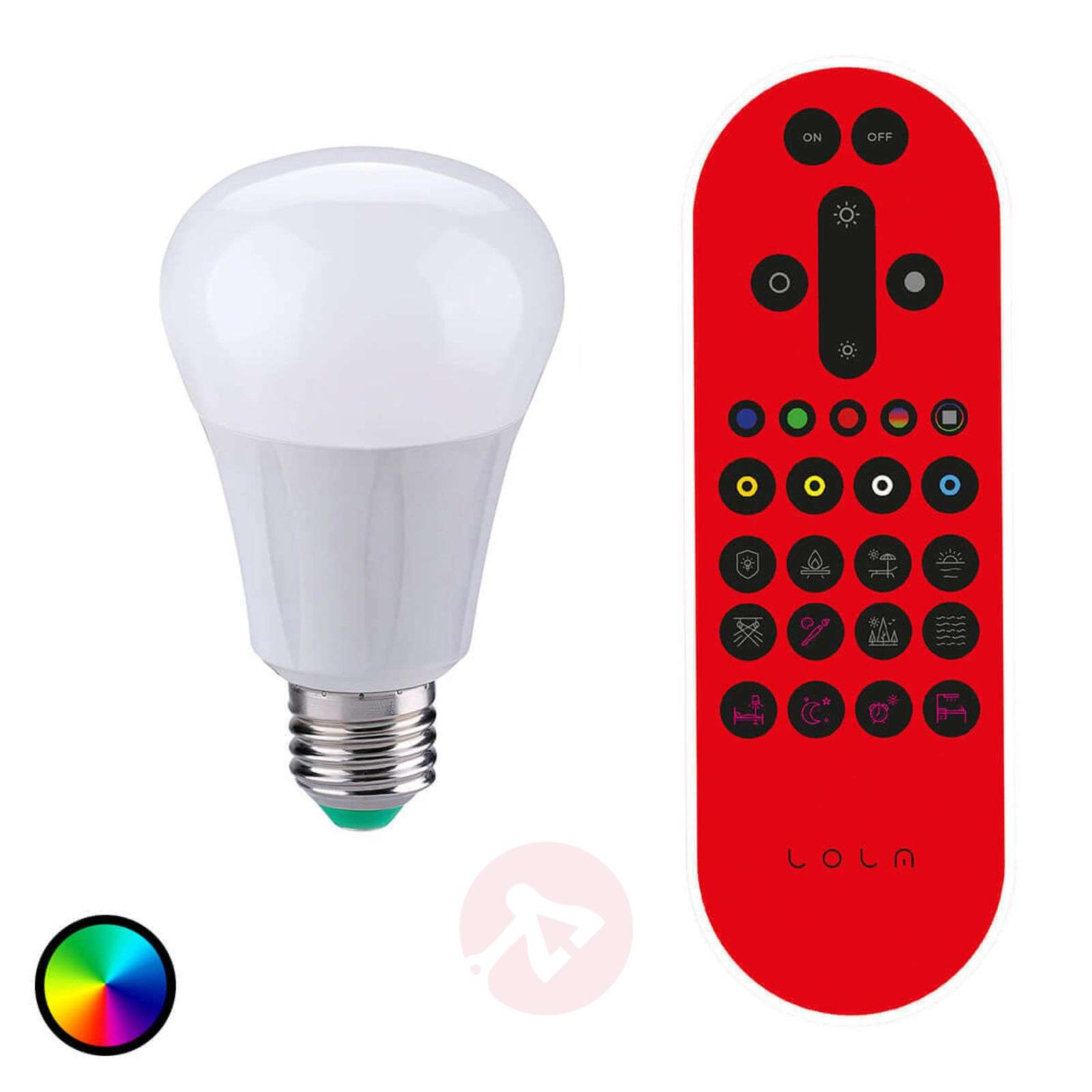 Ampoule LED LOLA E27 6,7 W RVB 550 lumens dimmable-6002898-02