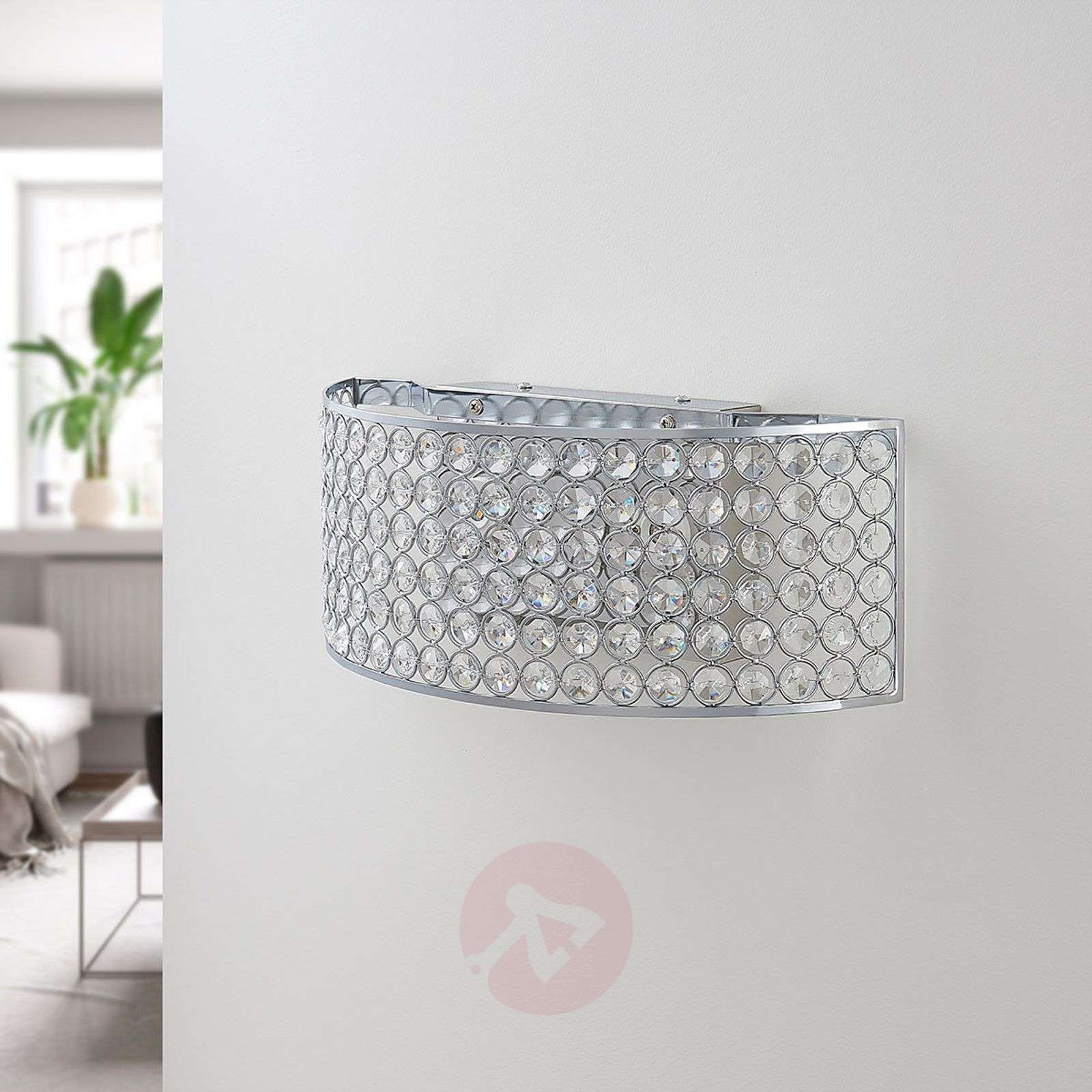 Applique LED en cristal de verre Alizee en chromé-9621798-02