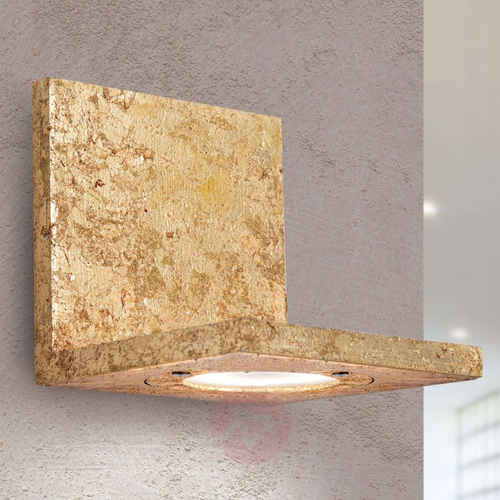 Applique led talina feuille d or lampe luminaire
