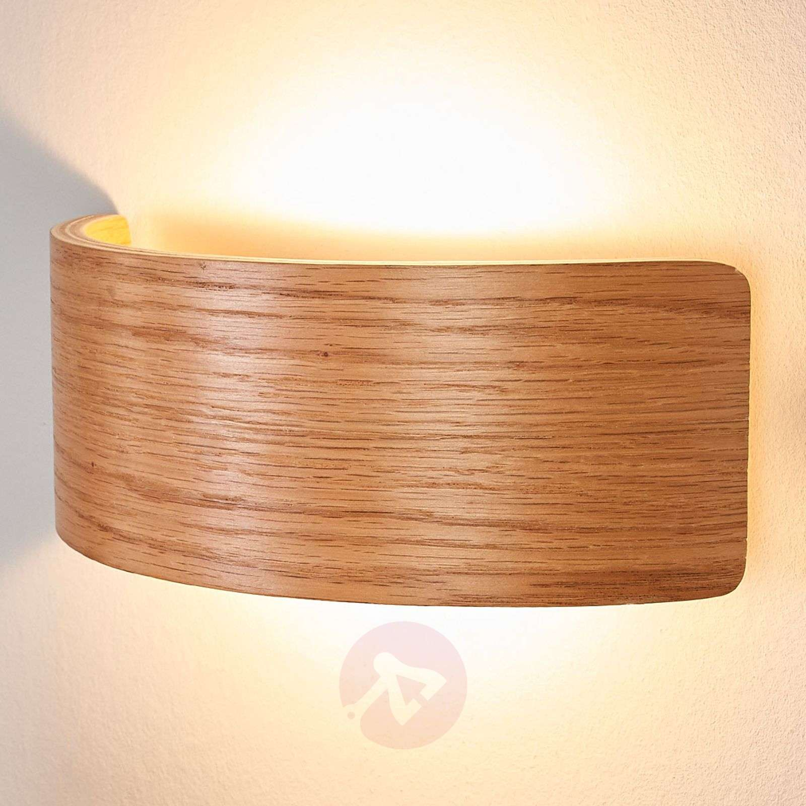 Applique murale LED bois Rafailia, aspect naturel-9625158-02