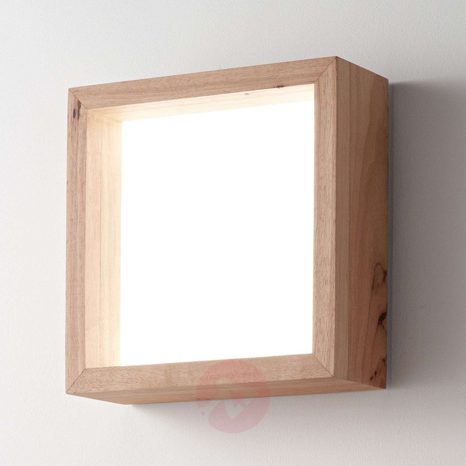 Applique murale LED carrée Window en chêne-3502645-01