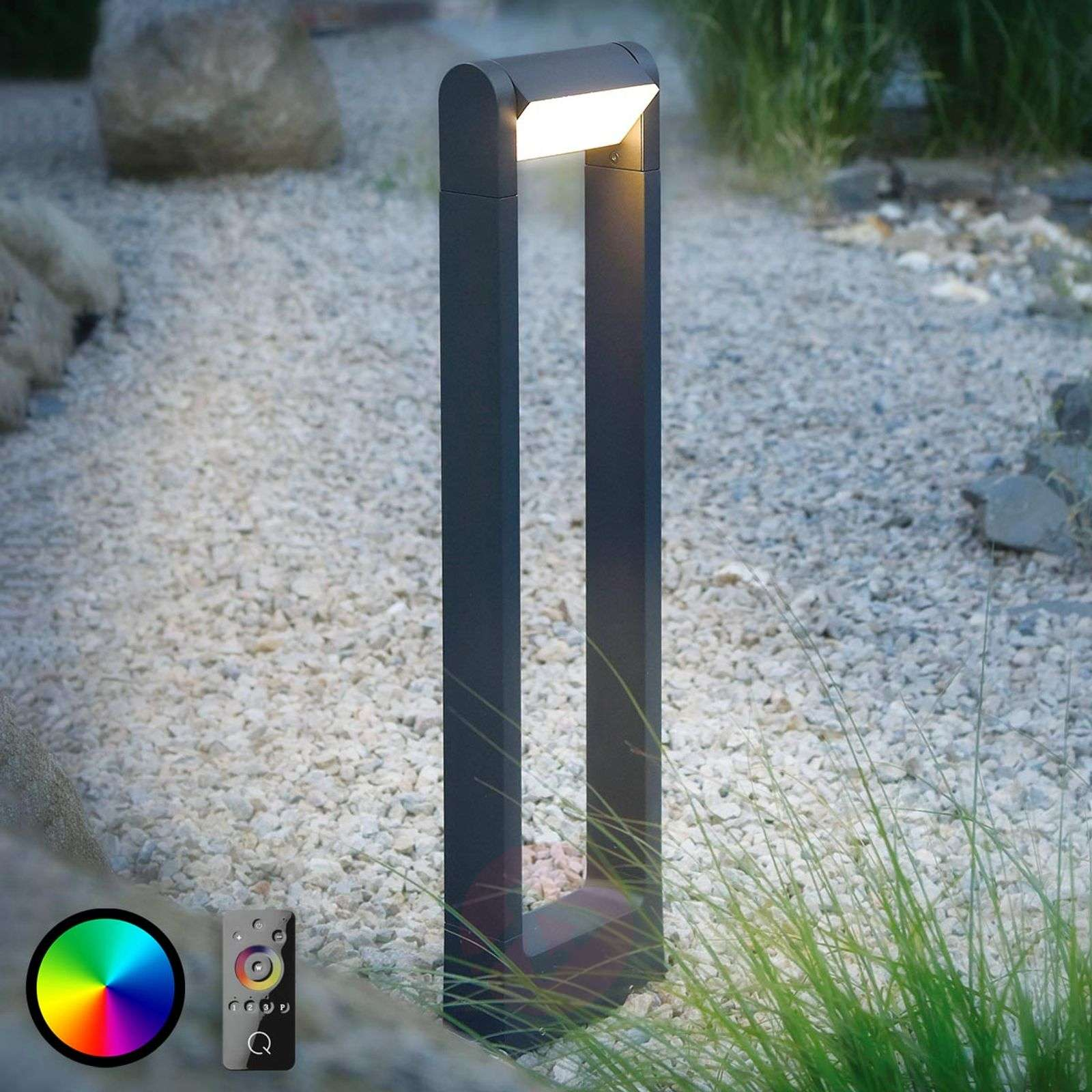 Borne lumineuse LED Q-Albert en anthracite-7610601-01