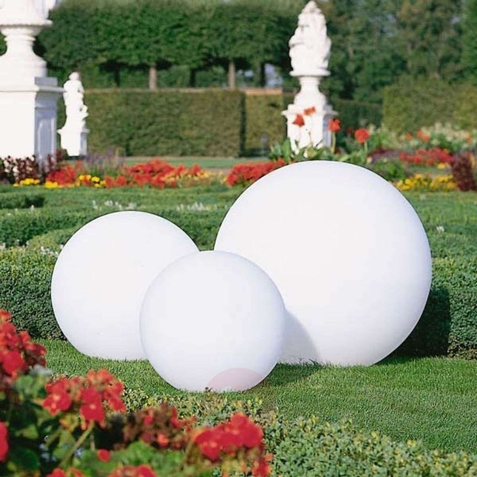 boule lumineuse snowball d pla able blanche. Black Bedroom Furniture Sets. Home Design Ideas