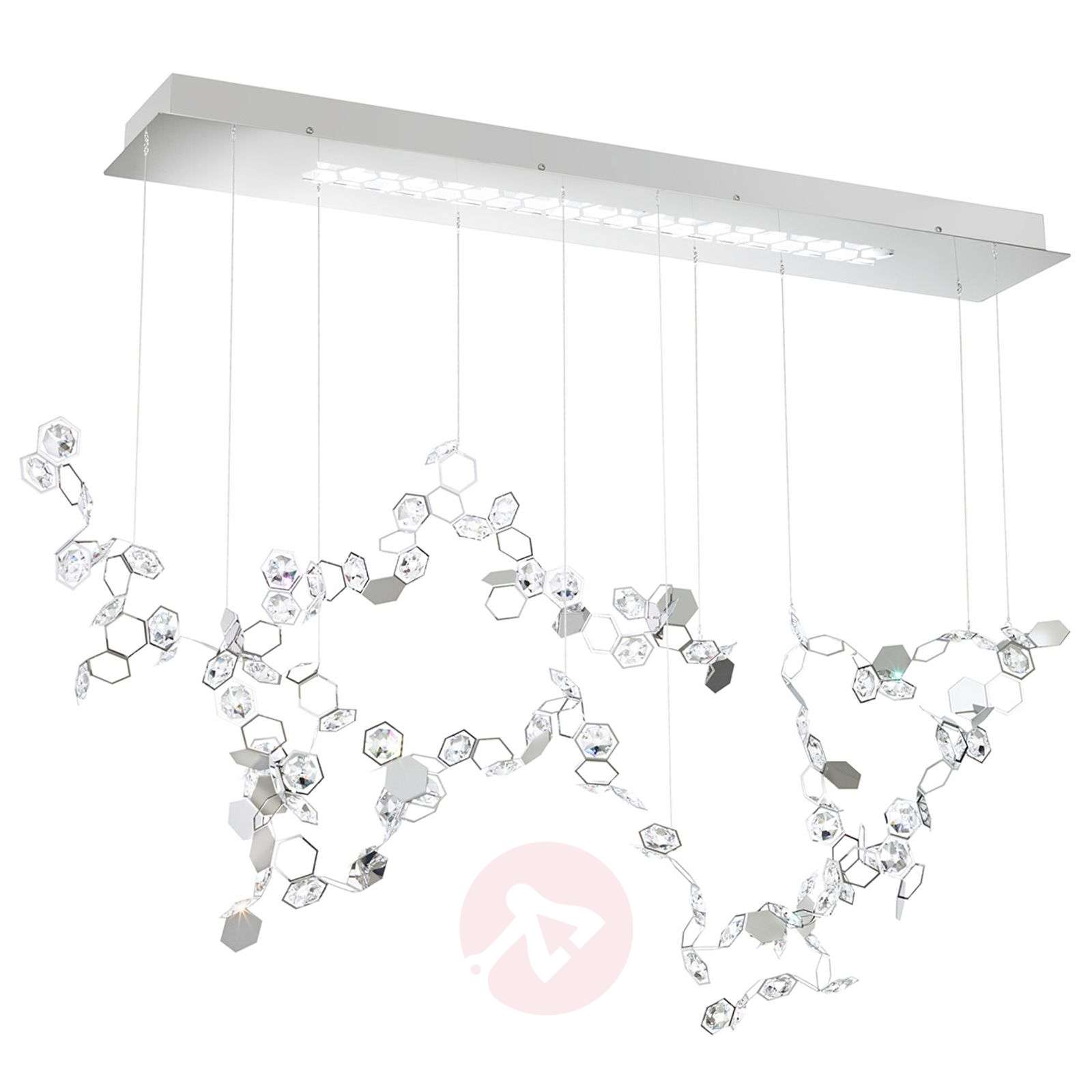 Crystalon suspension LED avec Swarovski 117cm-8578022-03
