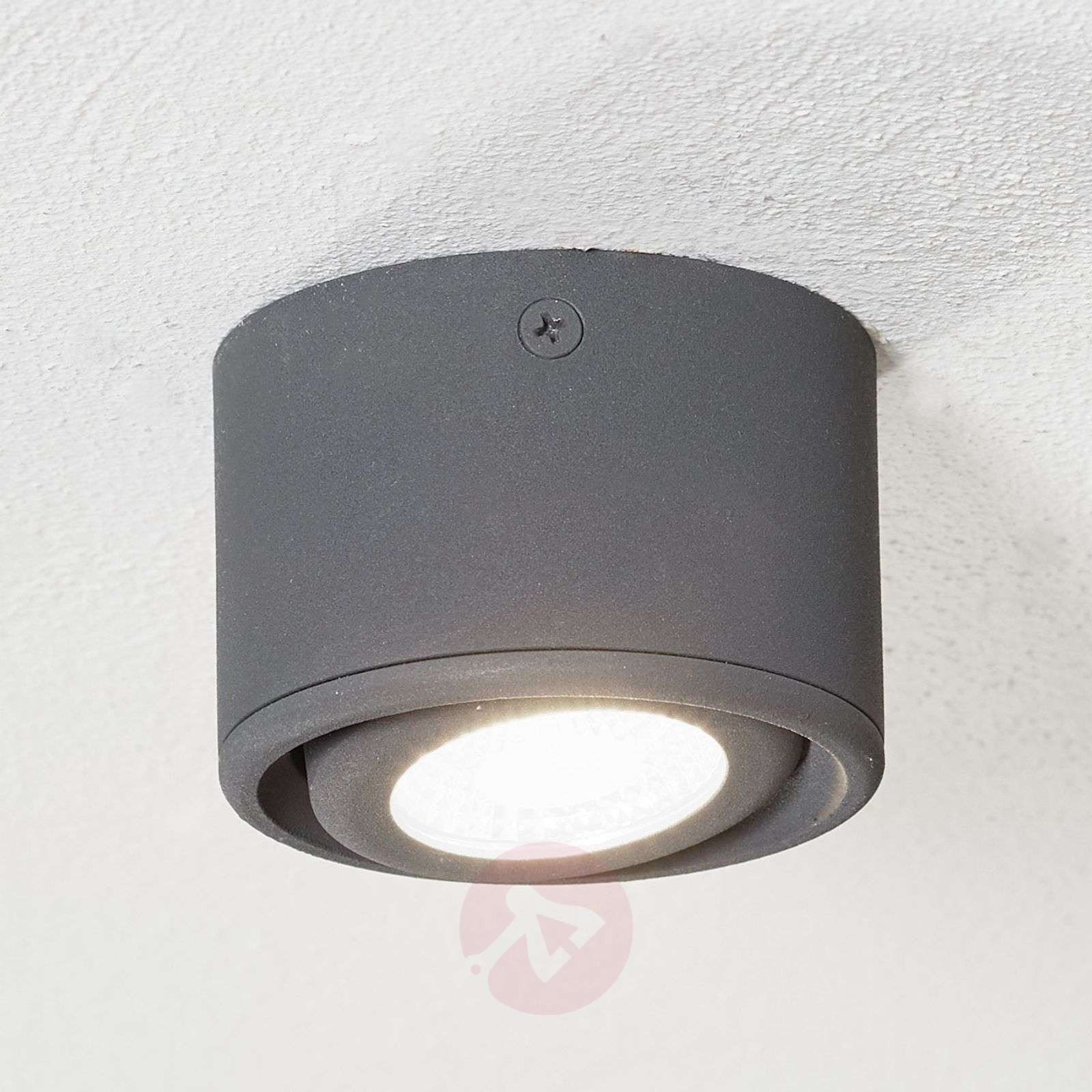 Downlight LED Anzio à tête pivotante, anthracite-3502660-03