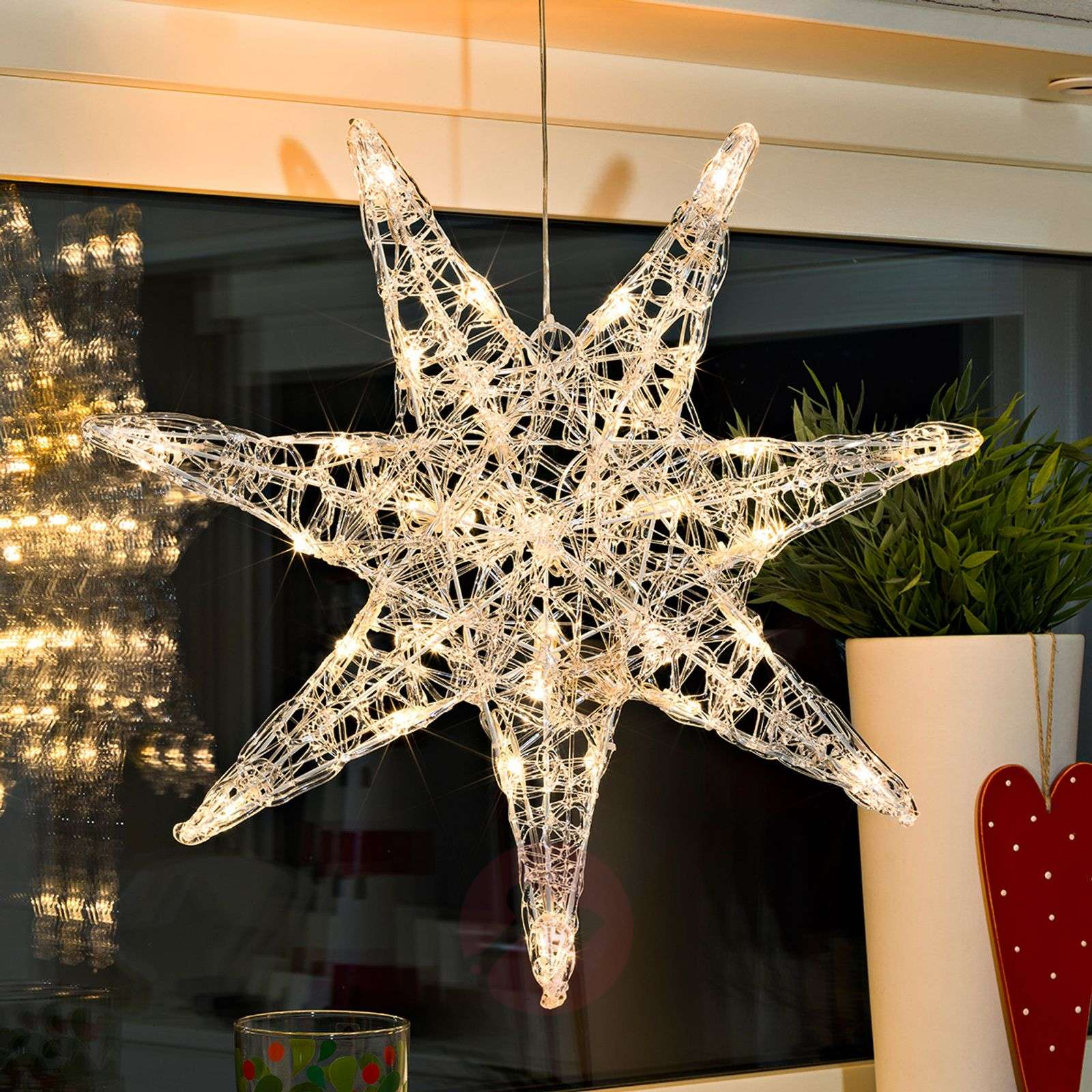 Etoile en acrylique LED Iselin à sept branches-5524542-01