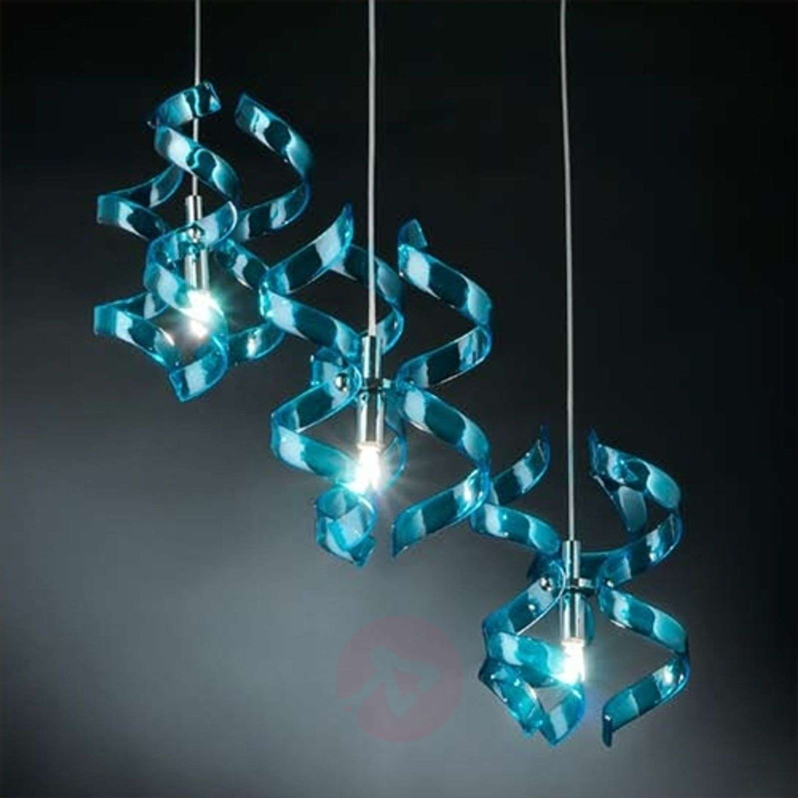 fascinante suspension blue 3 lampes. Black Bedroom Furniture Sets. Home Design Ideas