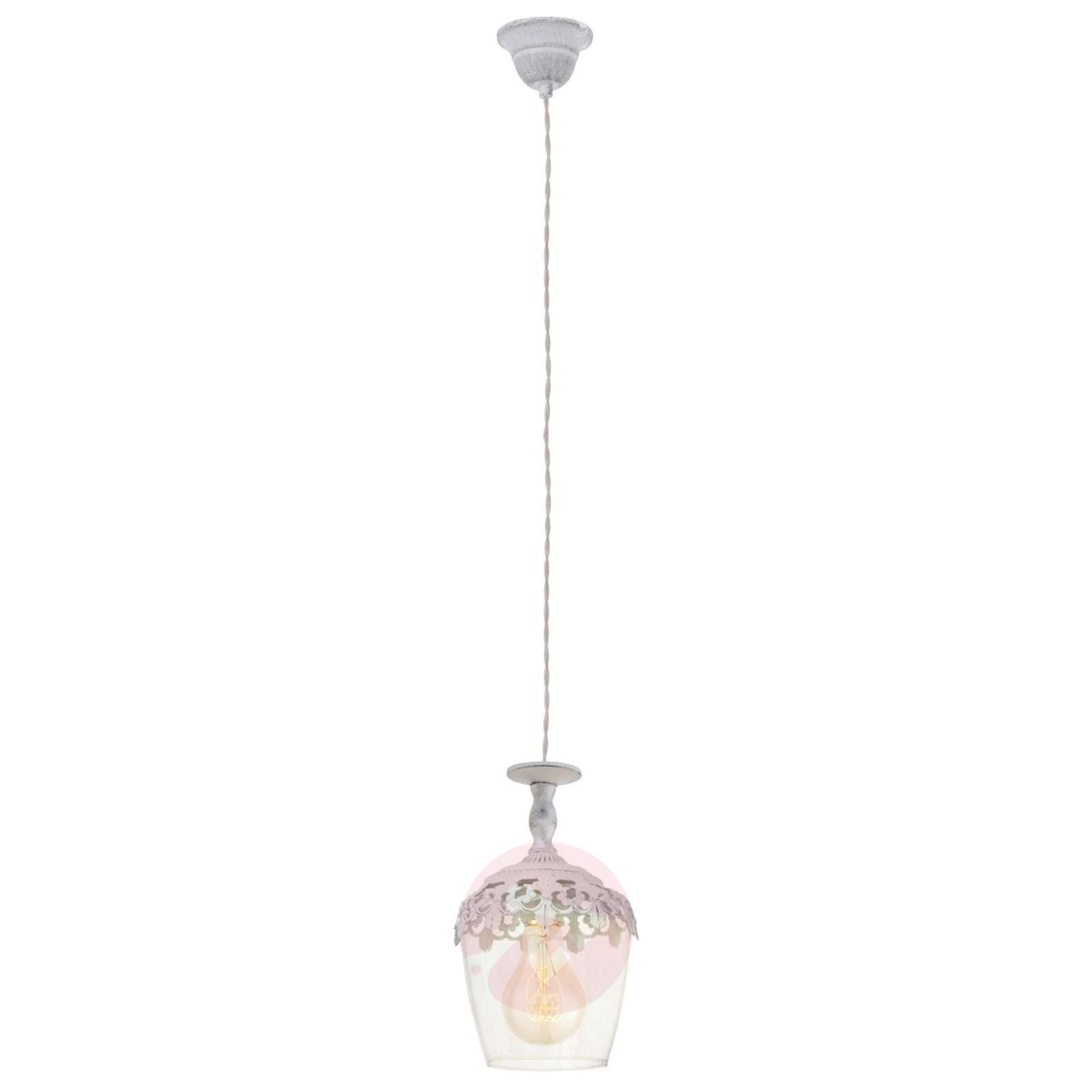 Florinia suspension patinée blanc-3031594-01