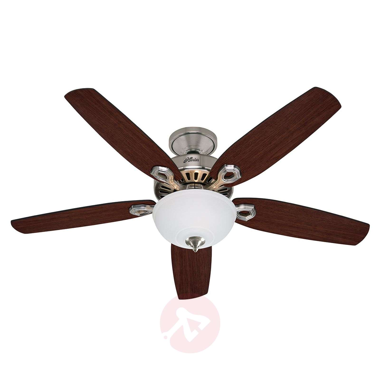 Hunter Builder Deluxe ventilateur plafond, chromé-4545008-01