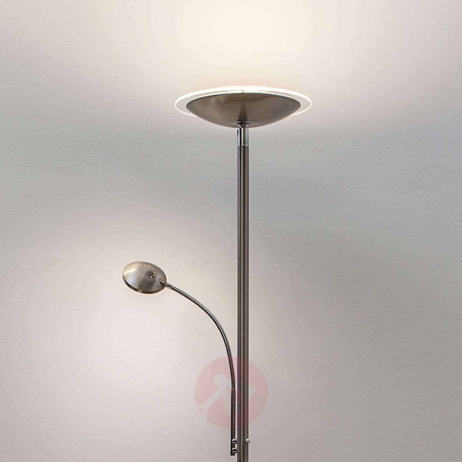 Lampadaire à éclairage indirect LED Malea nickel-9620005-01