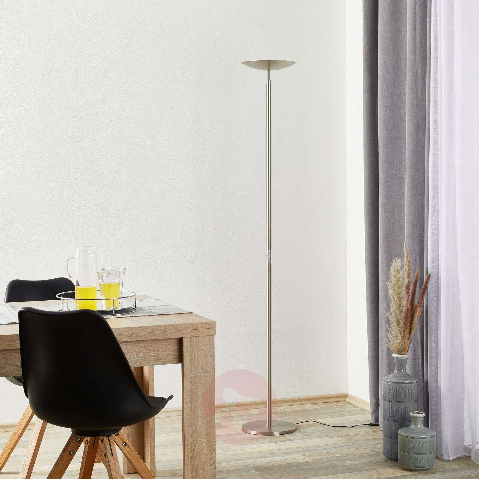 Lampadaire à éclairage indirect LED Nikolei-4002581-01