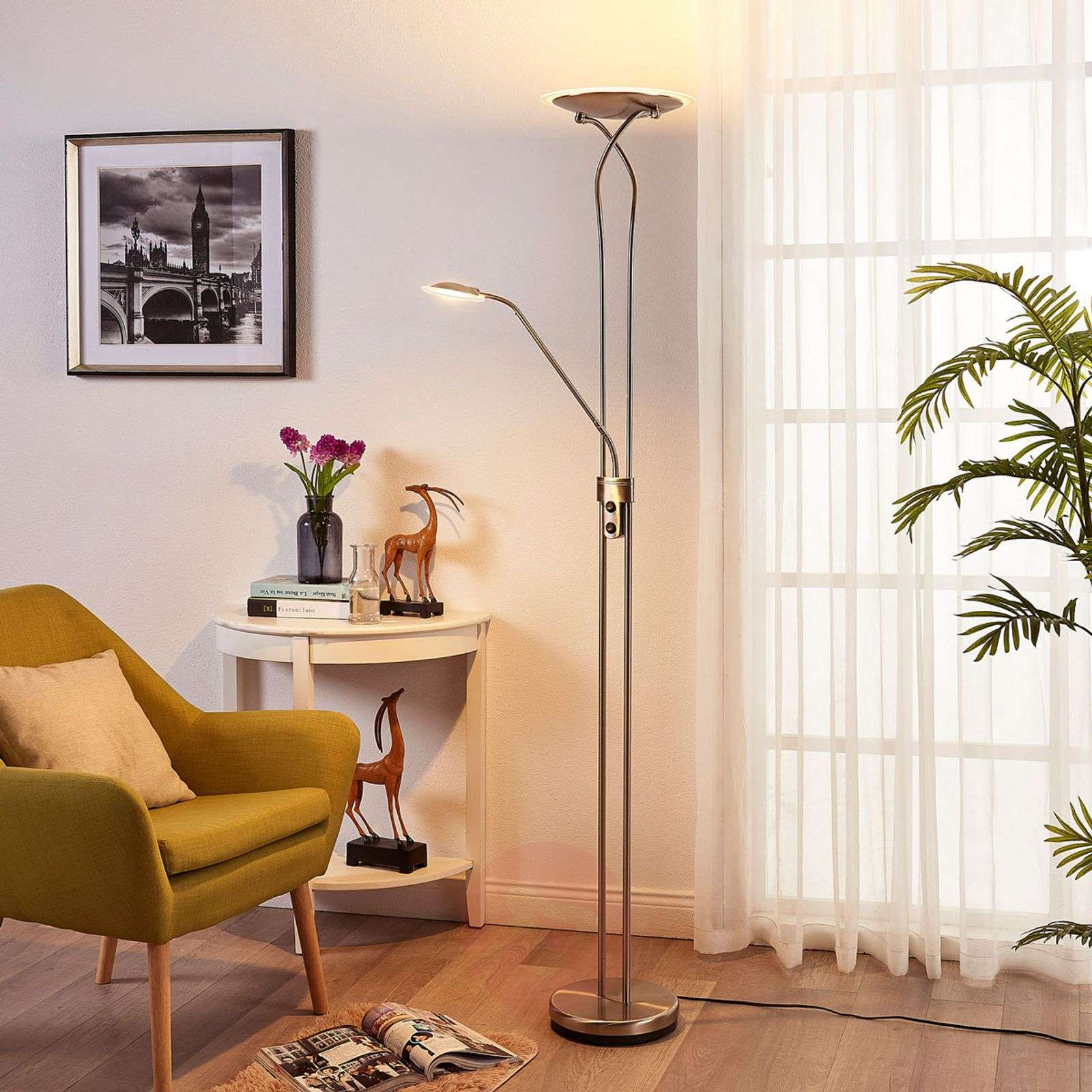 Lampadaire à éclairage indirect LED Selina liseuse-9621133-01