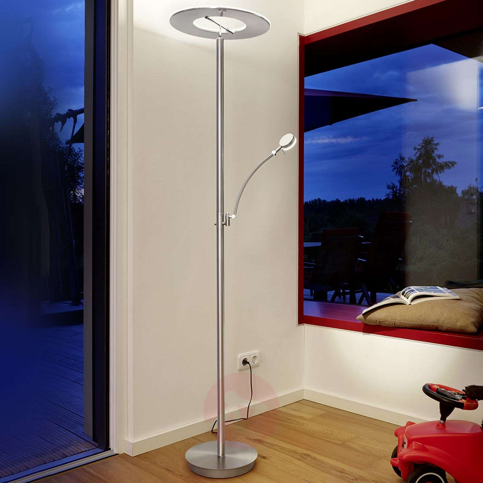 Lampadaire LED Monza, indirect, dimmable, liseuse-1554004-01