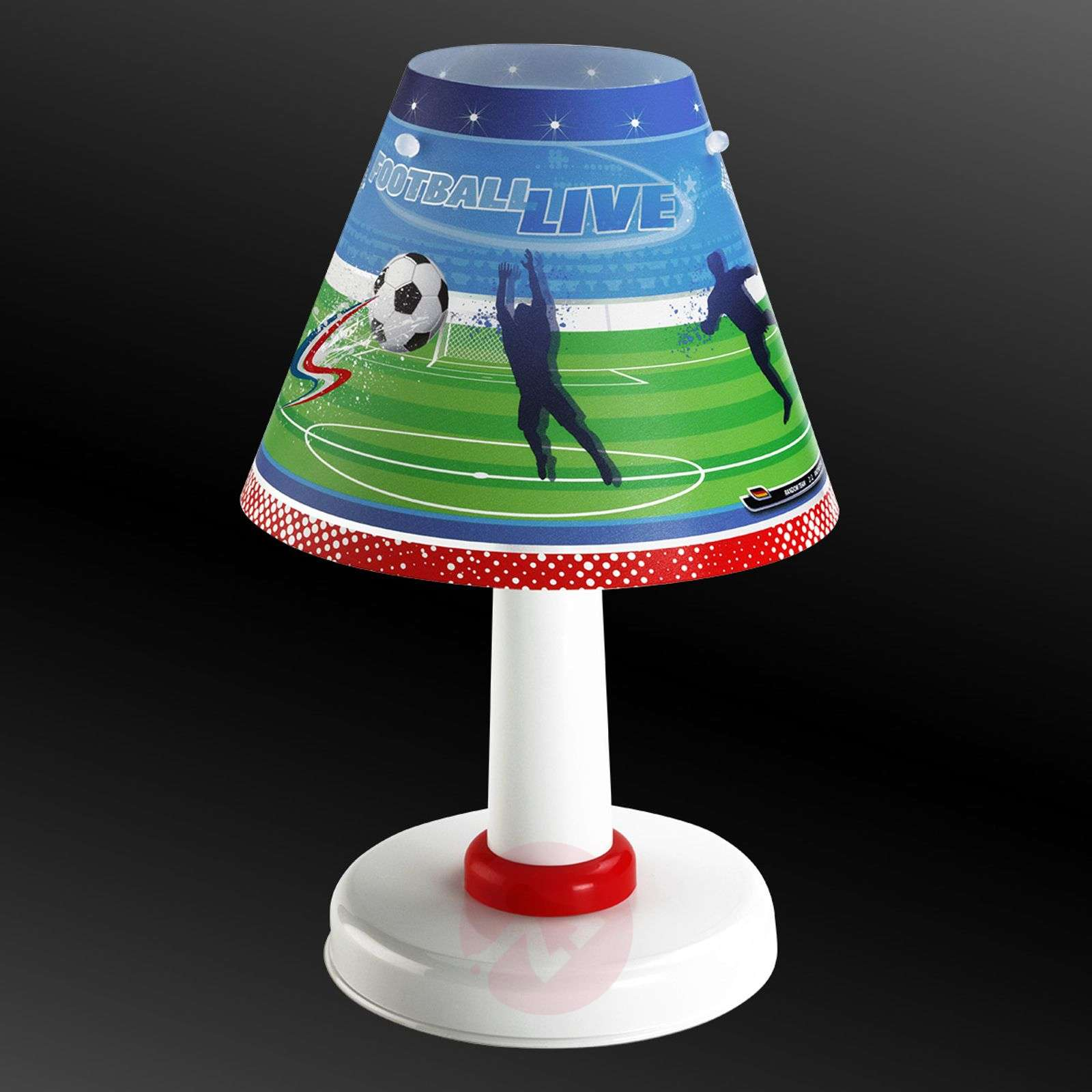 lampe poser football pour chambre d 39 enfant. Black Bedroom Furniture Sets. Home Design Ideas
