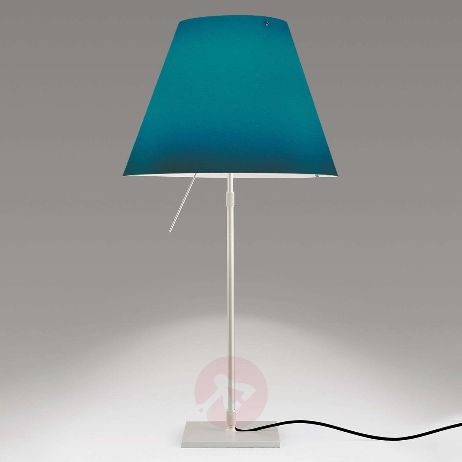 lampe poser led d corative costanza en bleu. Black Bedroom Furniture Sets. Home Design Ideas