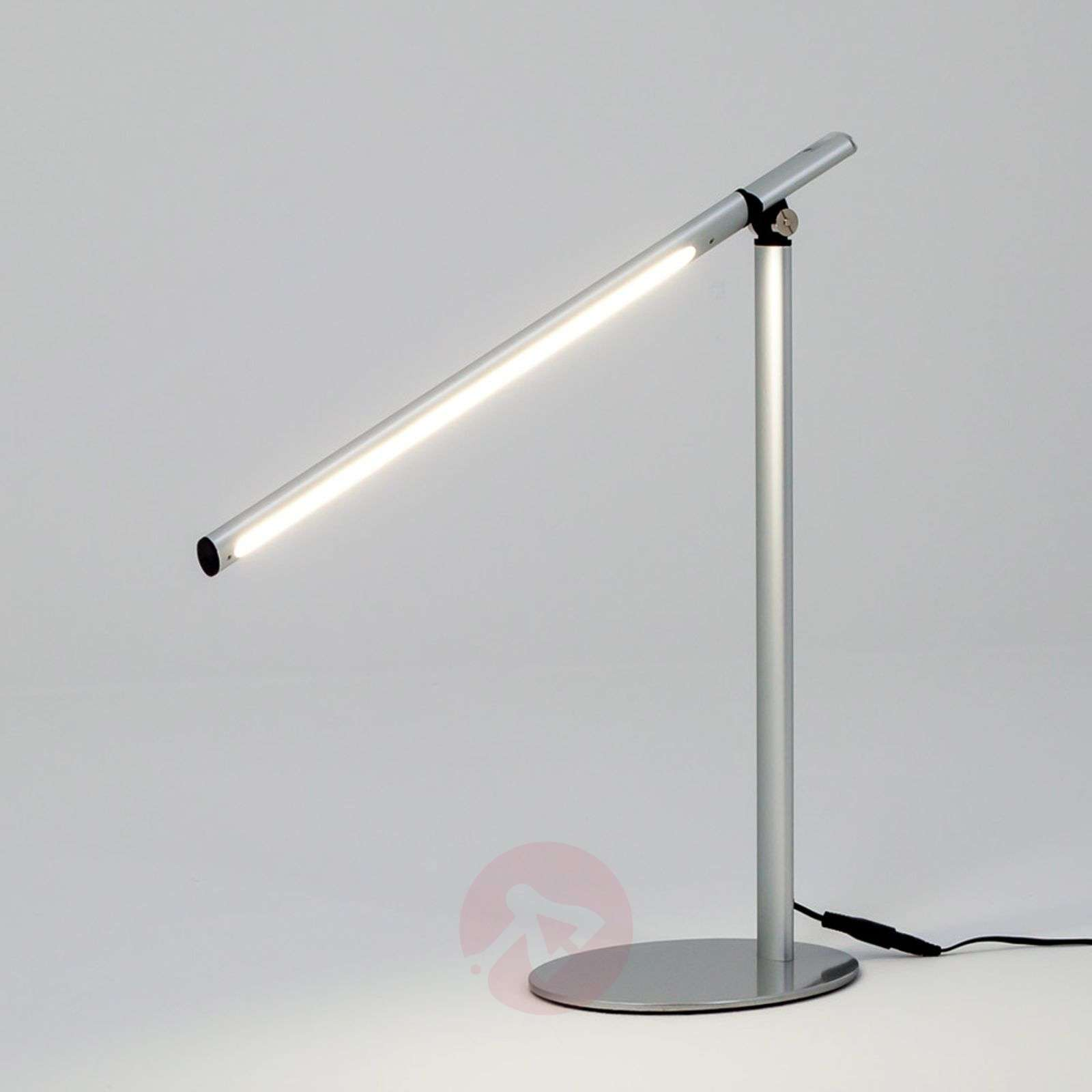 lampe poser led kolja tr s moderne gris argent. Black Bedroom Furniture Sets. Home Design Ideas