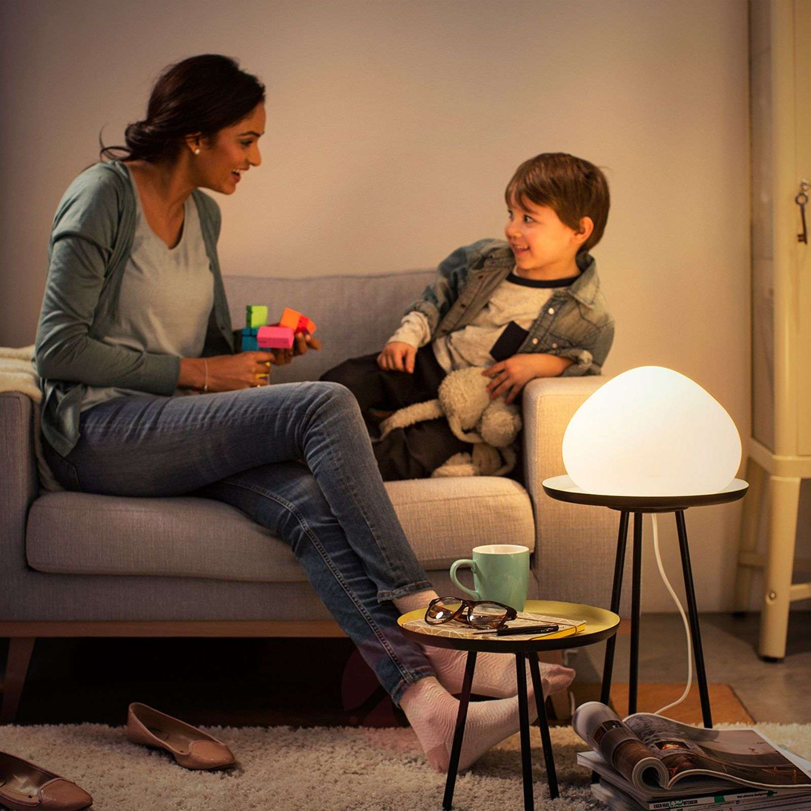 Lampe à poser LED Philips Hue réglable Wellner-7531876-01