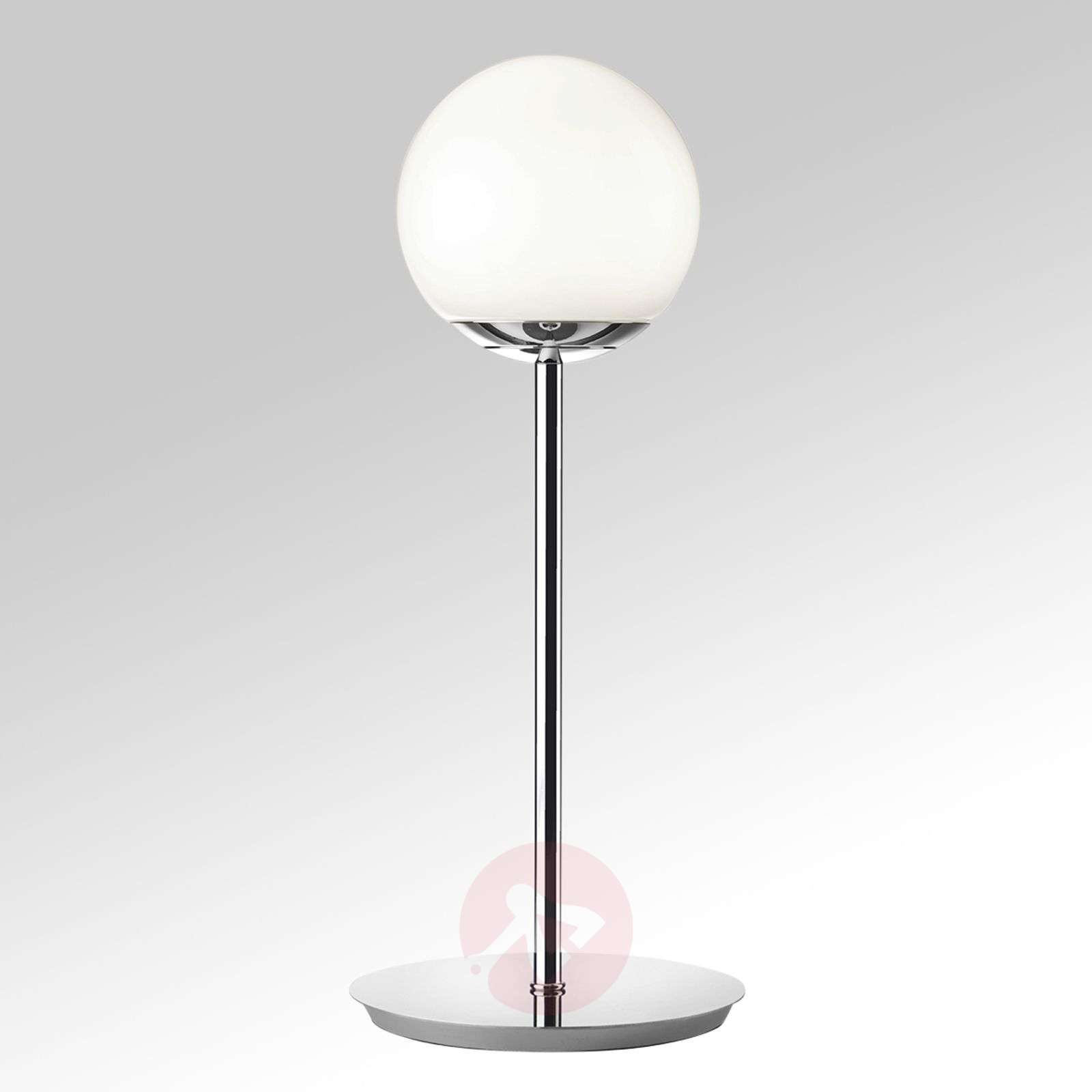 lampe poser led puppi abat jour globe en verre. Black Bedroom Furniture Sets. Home Design Ideas