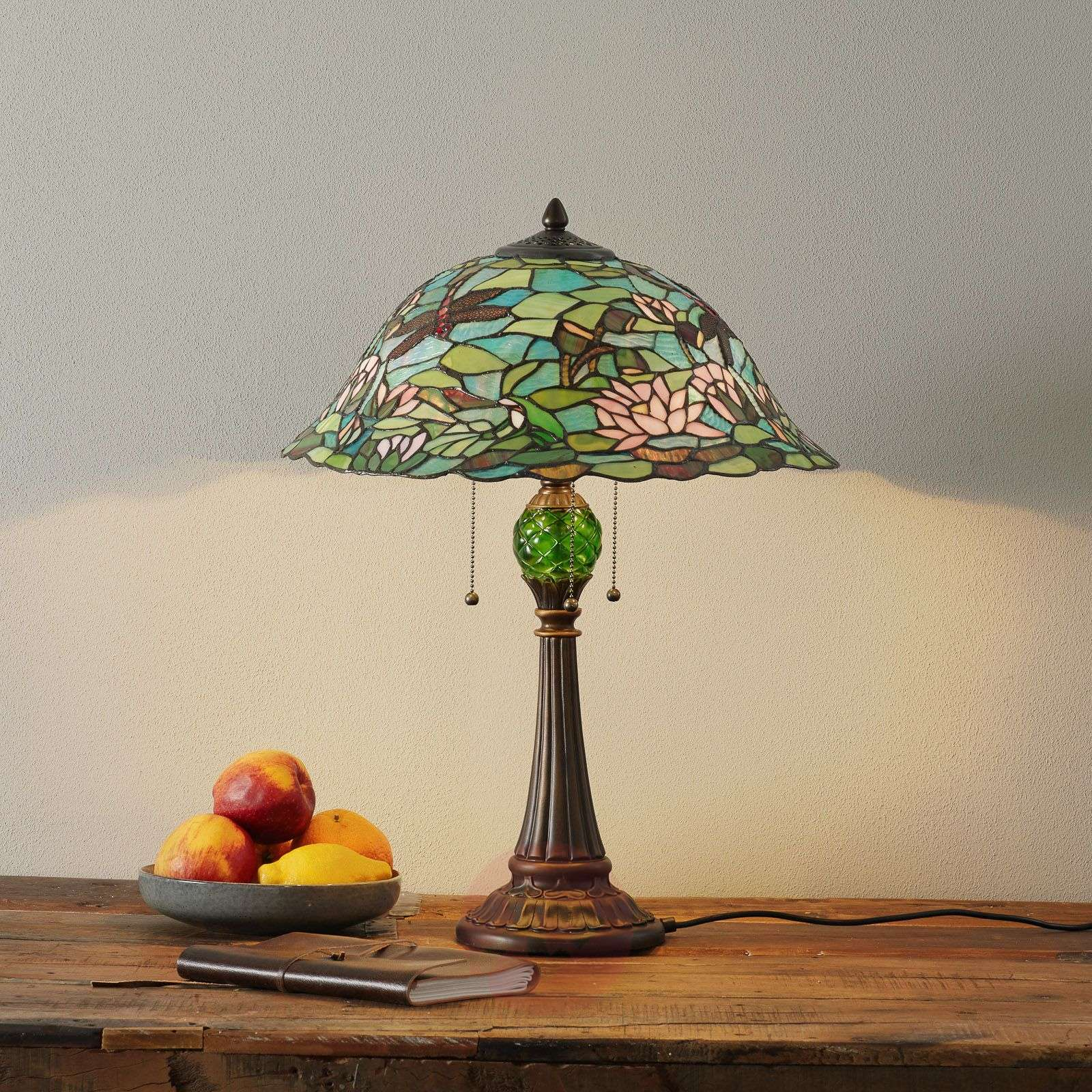 Lampe à poser Waterlily style Tiffany-6064020-01
