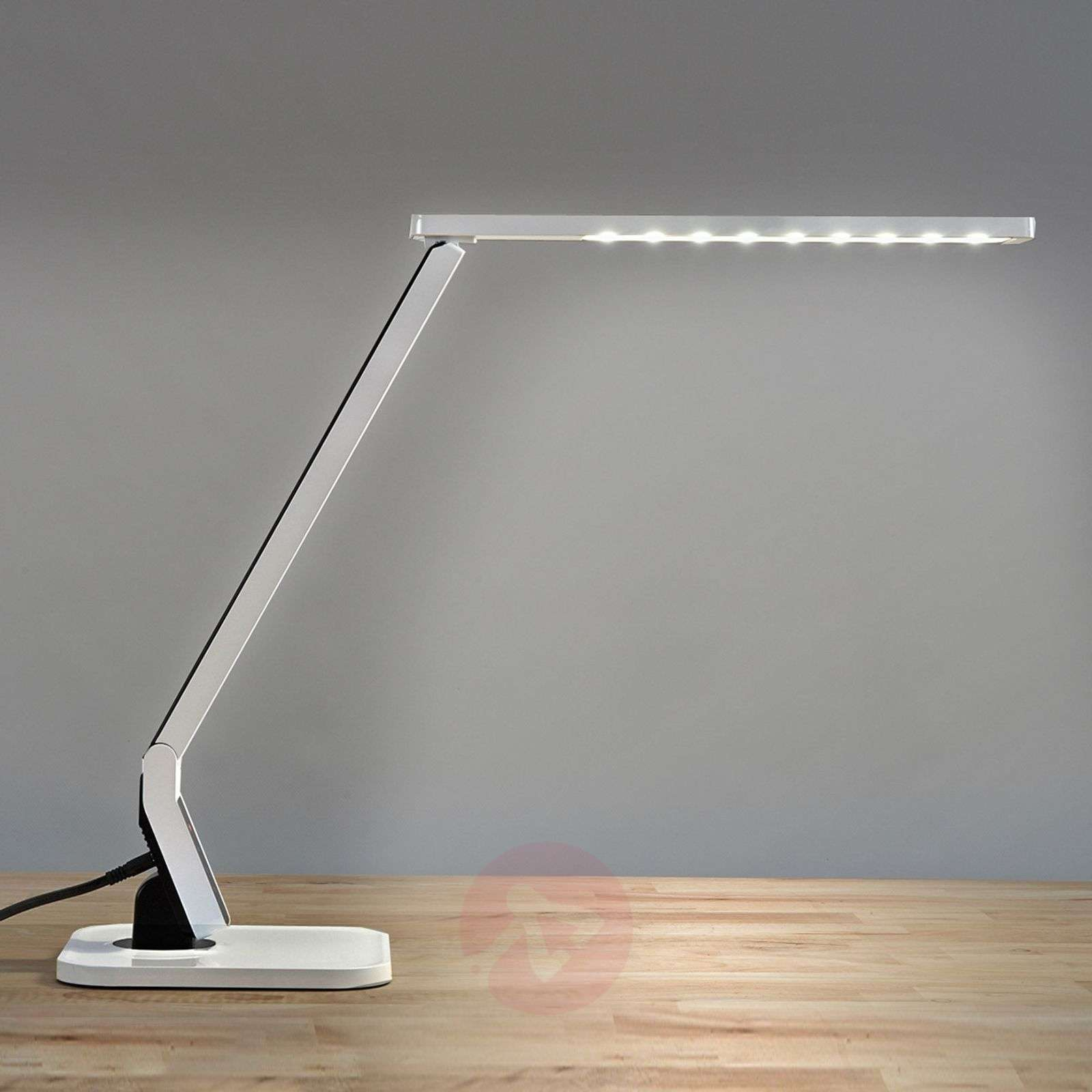 lampe de bureau led ultra moderne eleni blanche. Black Bedroom Furniture Sets. Home Design Ideas