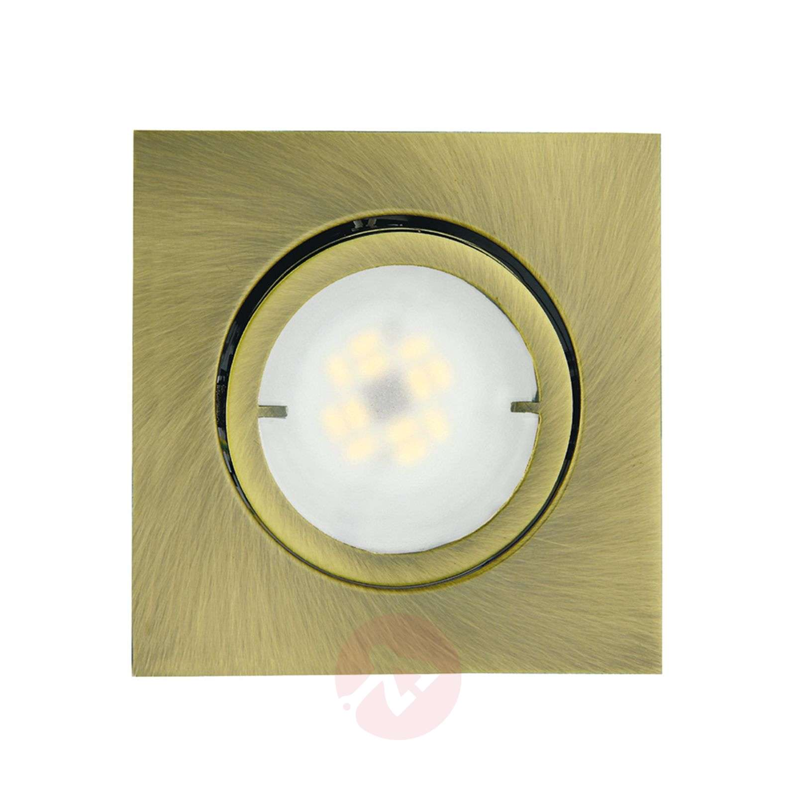 Lampe encastrable LED Joanie angulaire, laiton-1524116-01