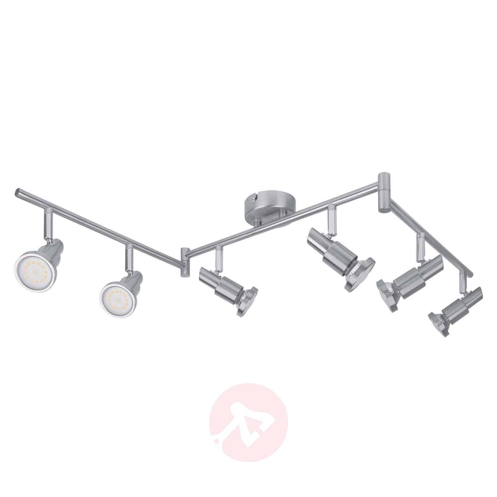 LEDVANCE Niclas spot LED, nickel, 6 lampes-6106071-01