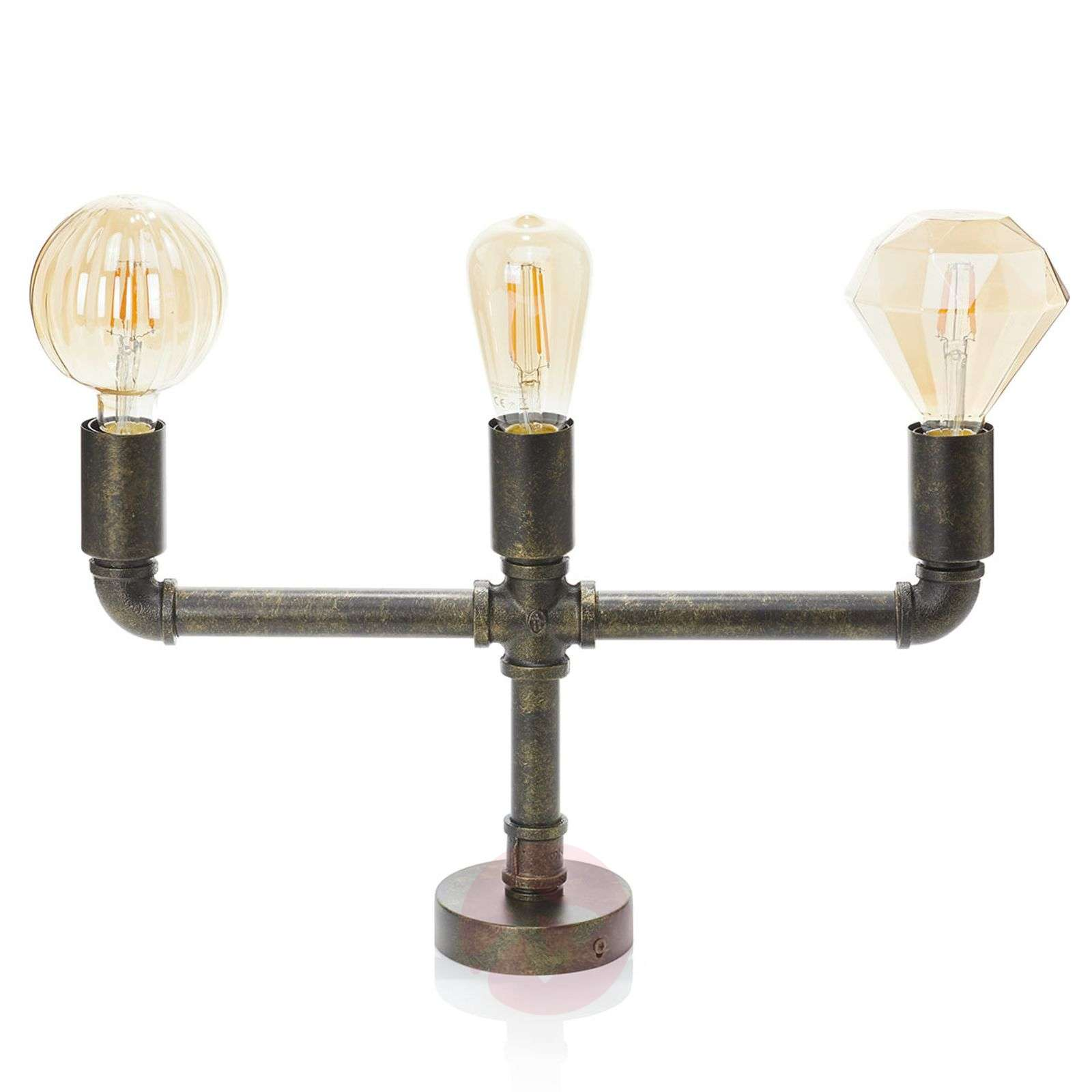 Leonas plafonnier LED, style industriel, 3 lampes-4018153-012