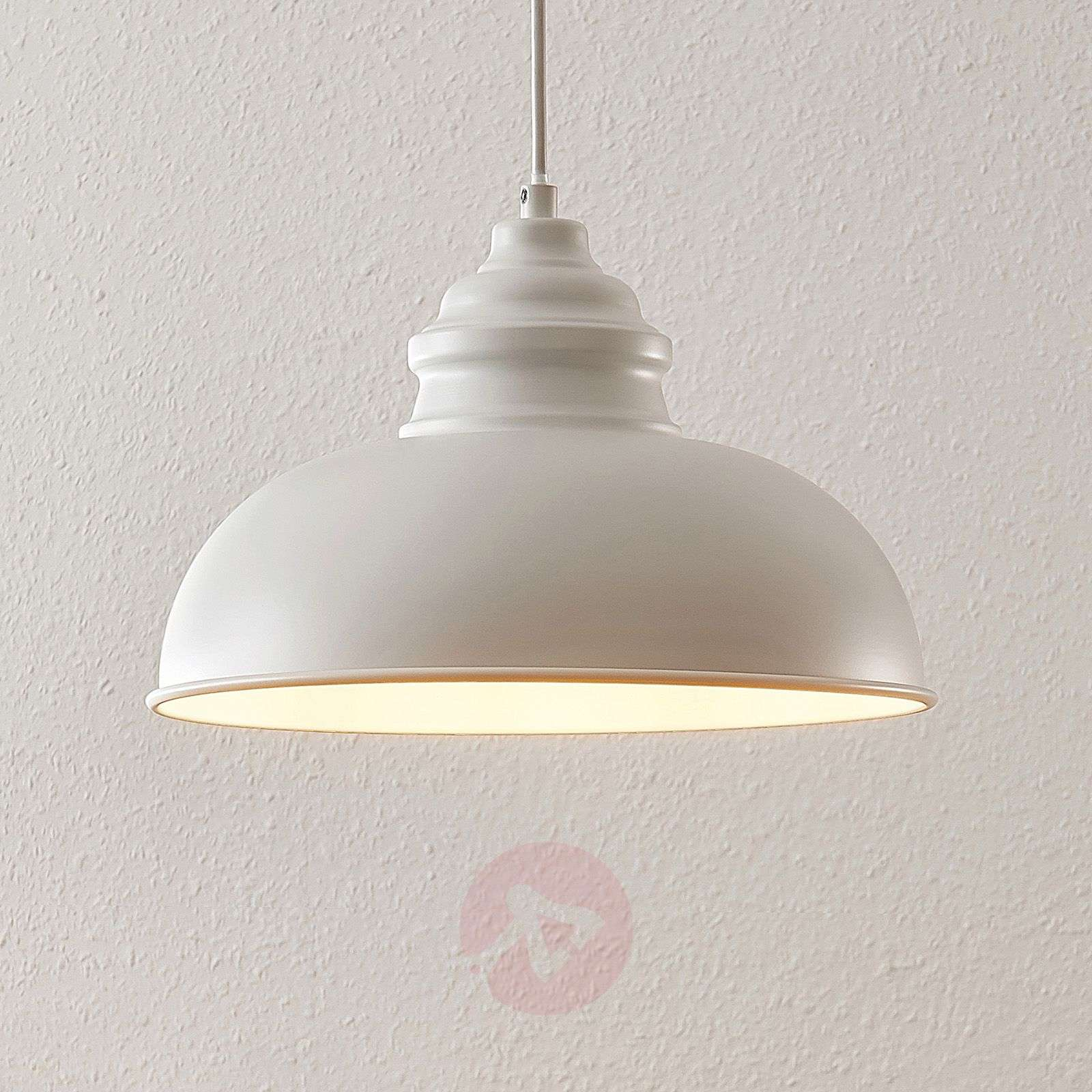 Lindby Cliona Suspension blanche mate-9639173-02