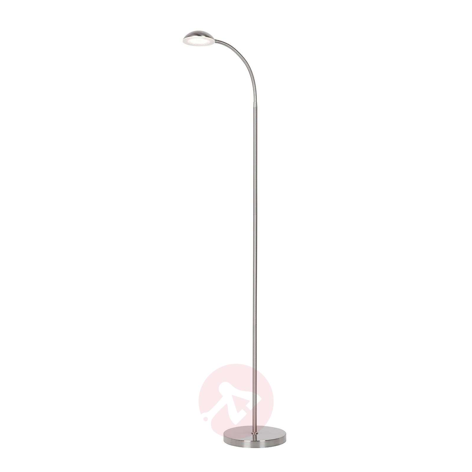 Liseuse LED Giacomo avec bras flexible, nickel