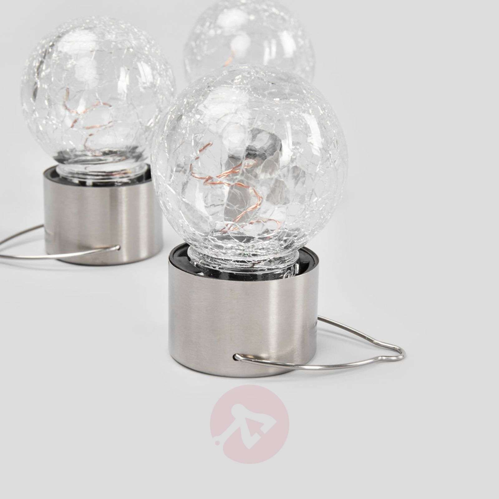 Lot de trois suspensions solaires LED Color Ball-3012234-01