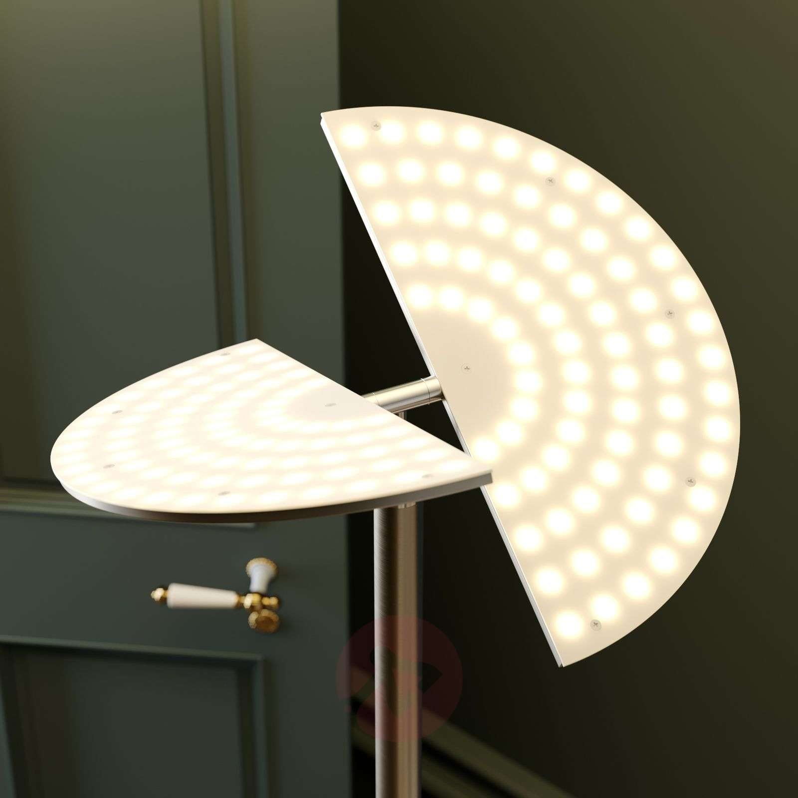 Lucande lampadaire indirect LED Joveline, nickel |