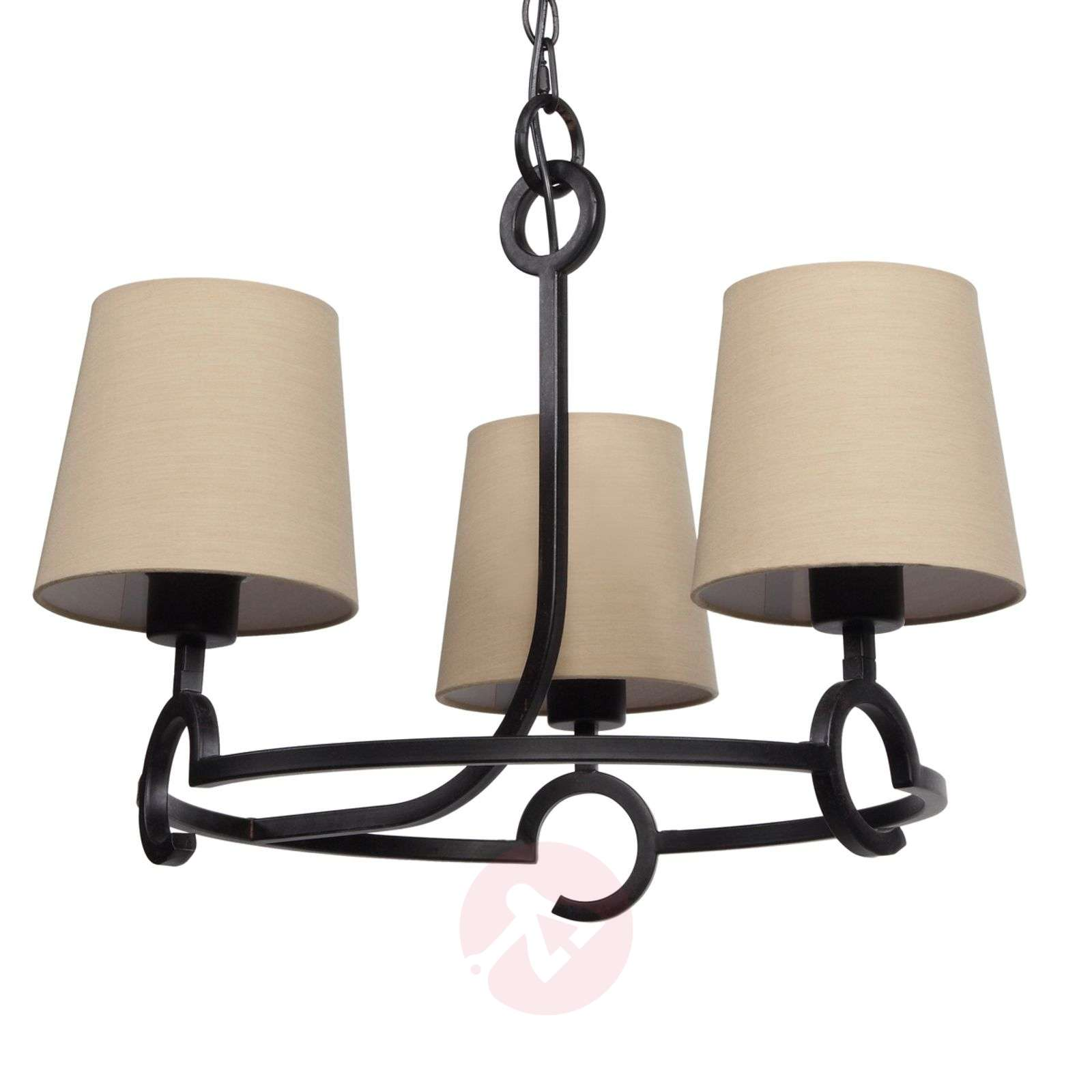 lustre 3 lampes argi au look rustique. Black Bedroom Furniture Sets. Home Design Ideas