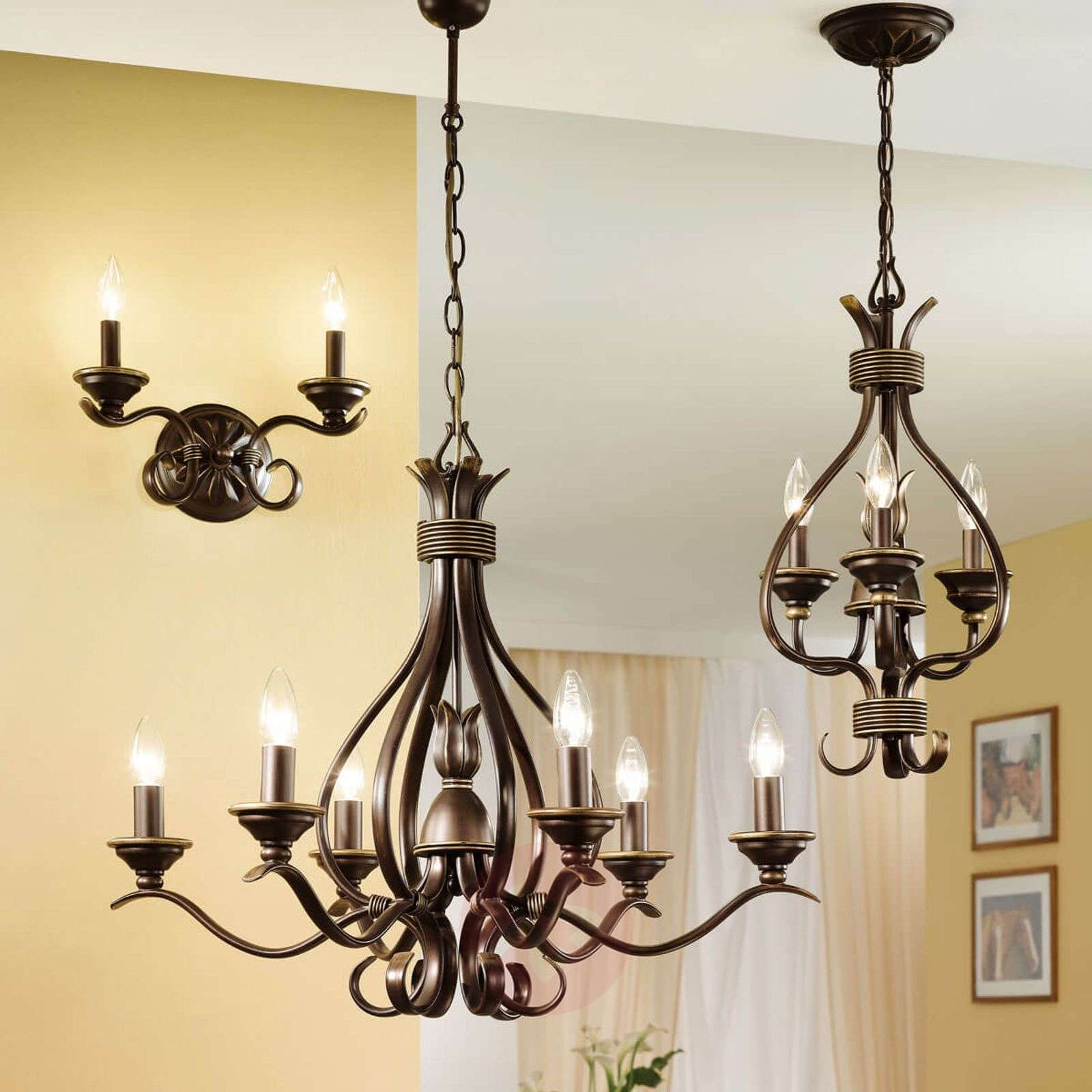 lustre 3 lampes buckingham 30 cm. Black Bedroom Furniture Sets. Home Design Ideas