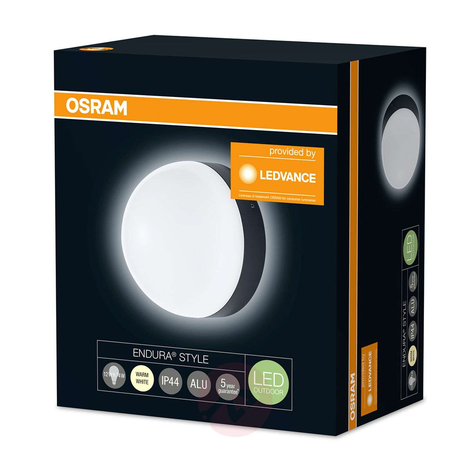 OSRAM Endura Style Ball applique LED grise-7261457-01