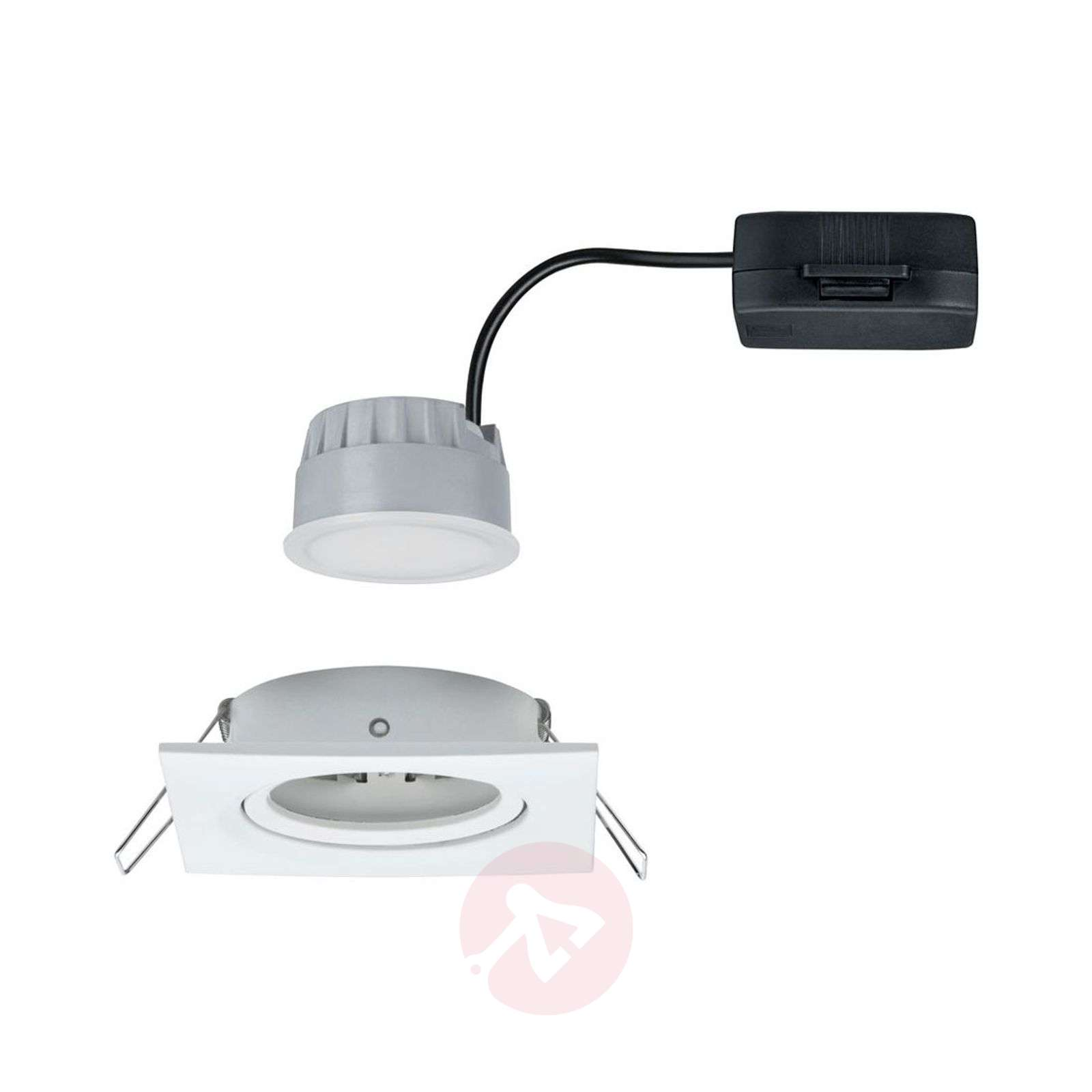 Paulmann spot LED Nova Coin carré, dimmable, blanc-7601372-01