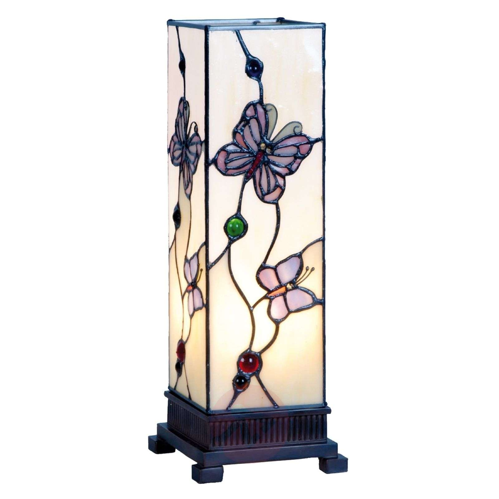 Petit photophore Rosy Butterfly 35 cm-6064085-01