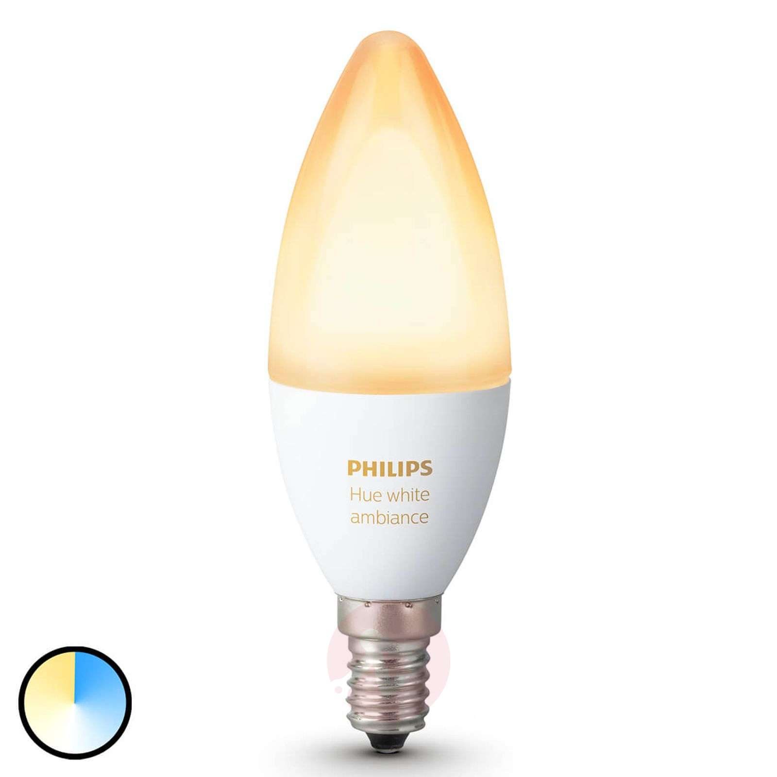 Philips Hue ampoule flamme White Ambiance E14 6W-7531918-01