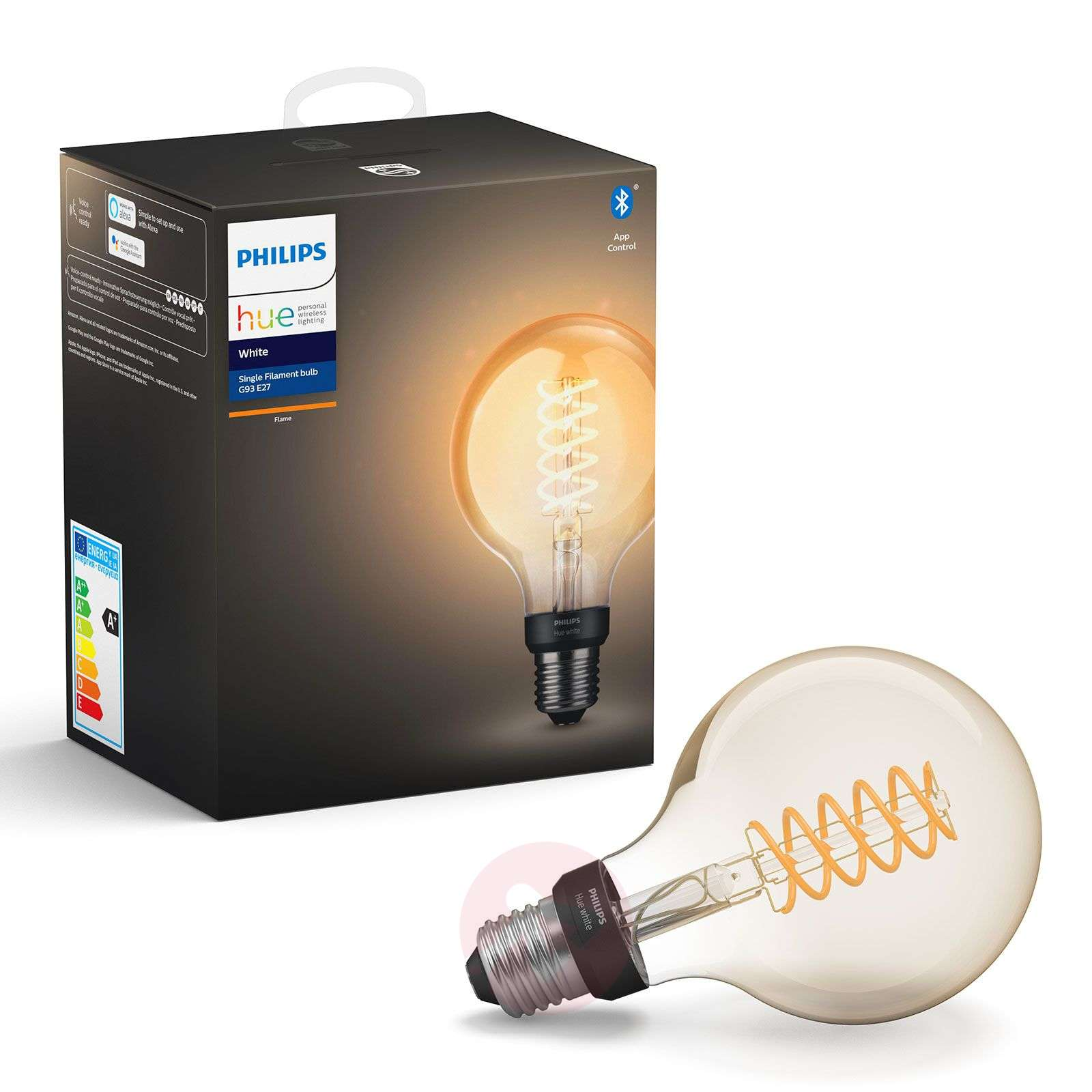 Philips Hue White 7 W E27 filament Globe G95