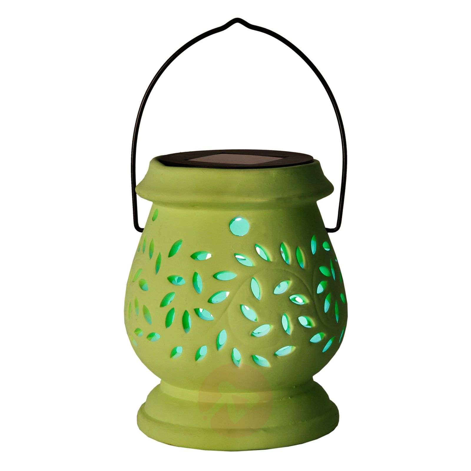 Photophore LED solaire vert Clay Lantern-1522714-01
